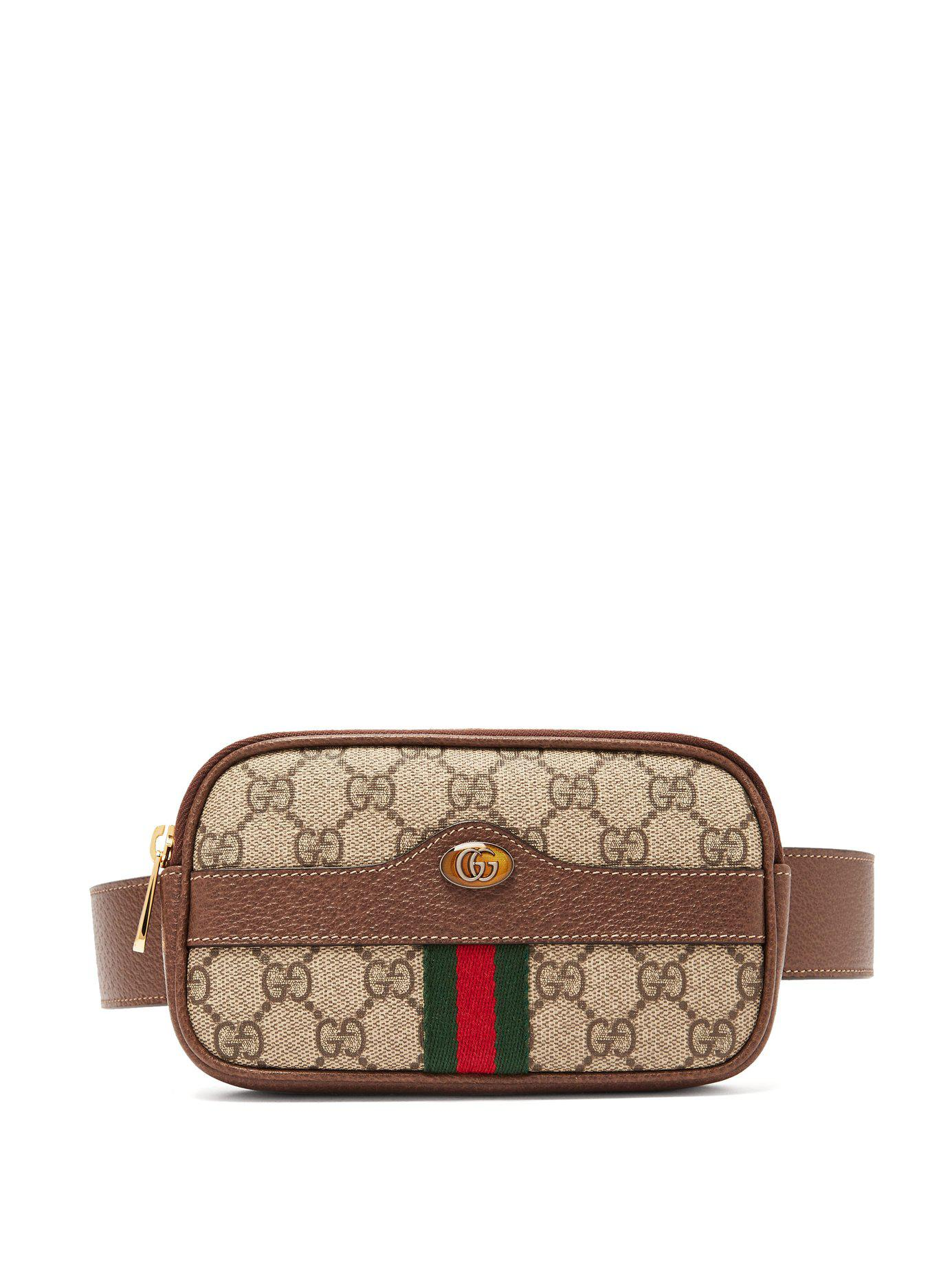 44b907772a0 Gucci Ophidia Gg Supreme Iphone® Belt Bag in Brown - Lyst