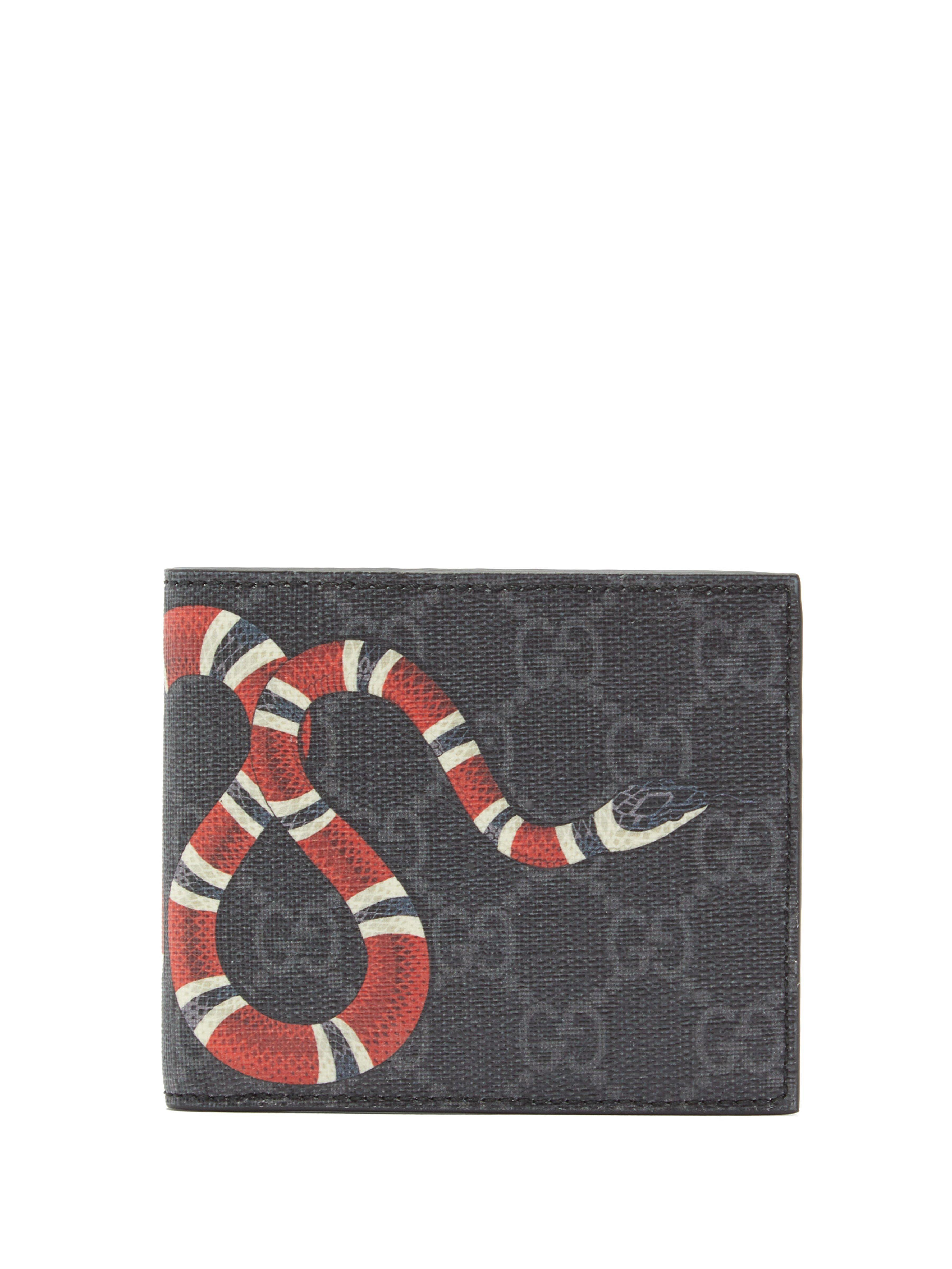 651901a34feb Gucci Kingsnake Print Gg Supreme Wallet for Men - Save 1% - Lyst