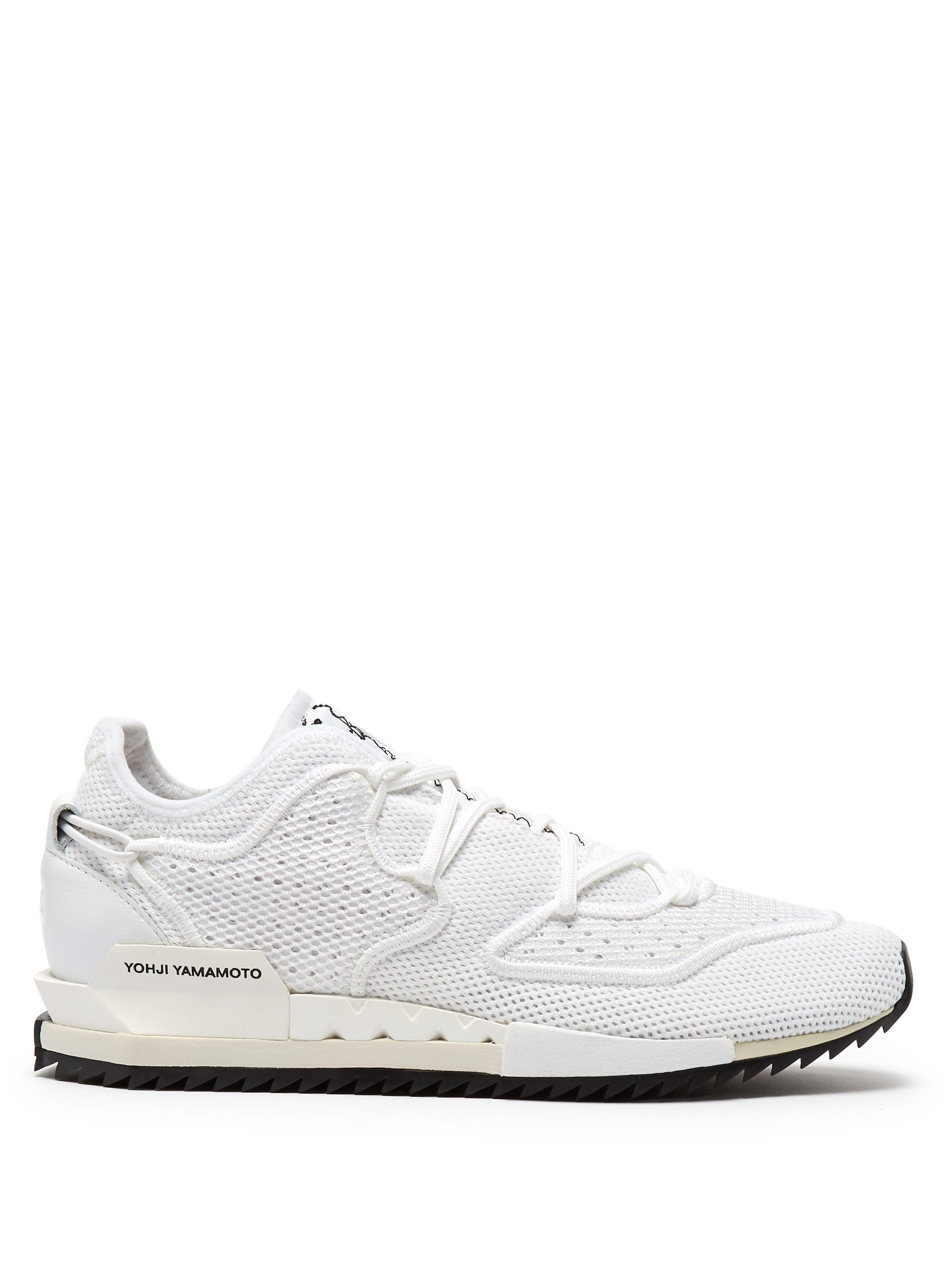 finest selection 28299 46052 Y-3. Men s White Harigane Ii Low Top Mesh Trainers