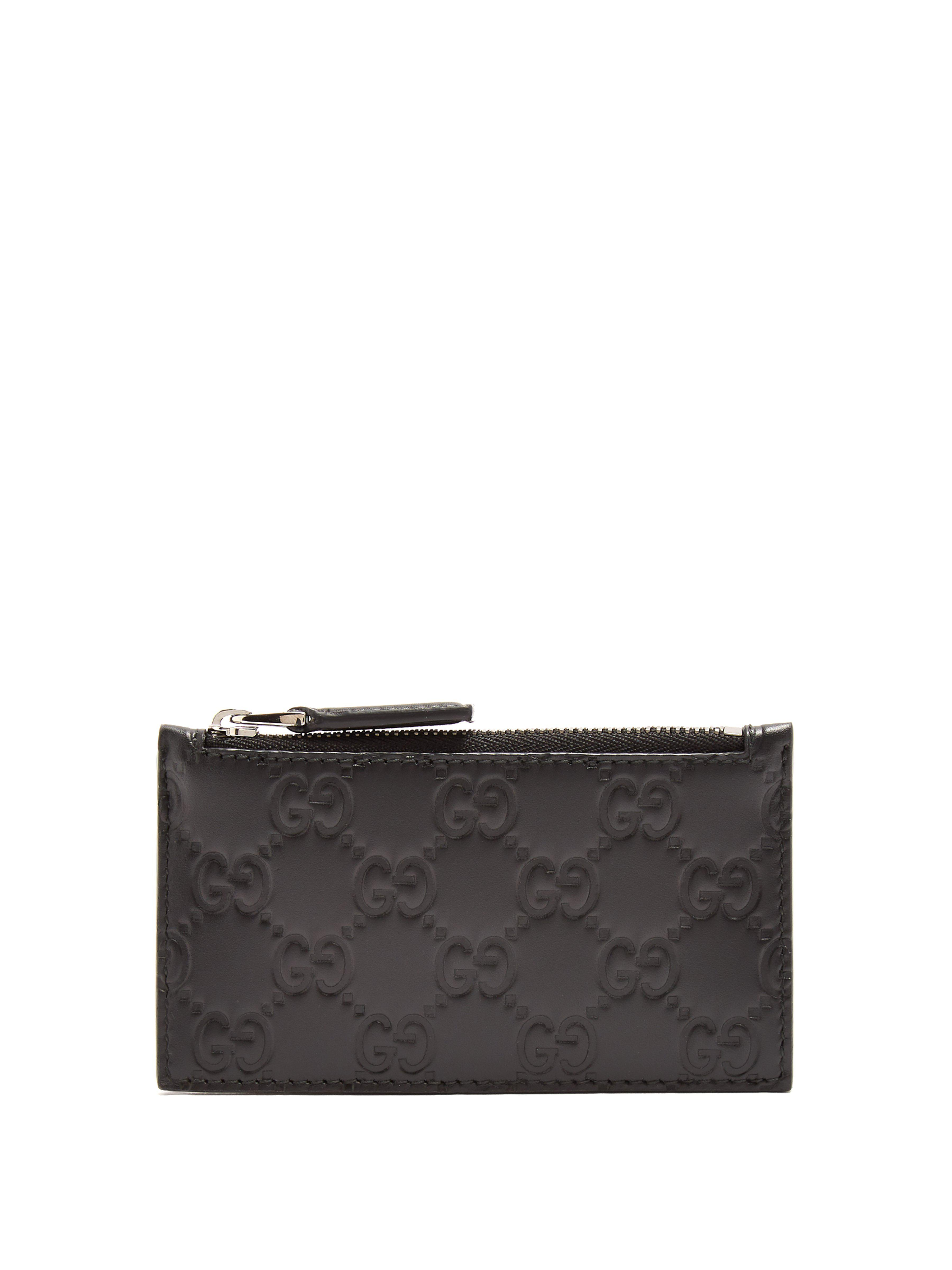 bfbdb964c6a2 Gucci Gg-debossed Leather Cardholder in Black for Men - Lyst