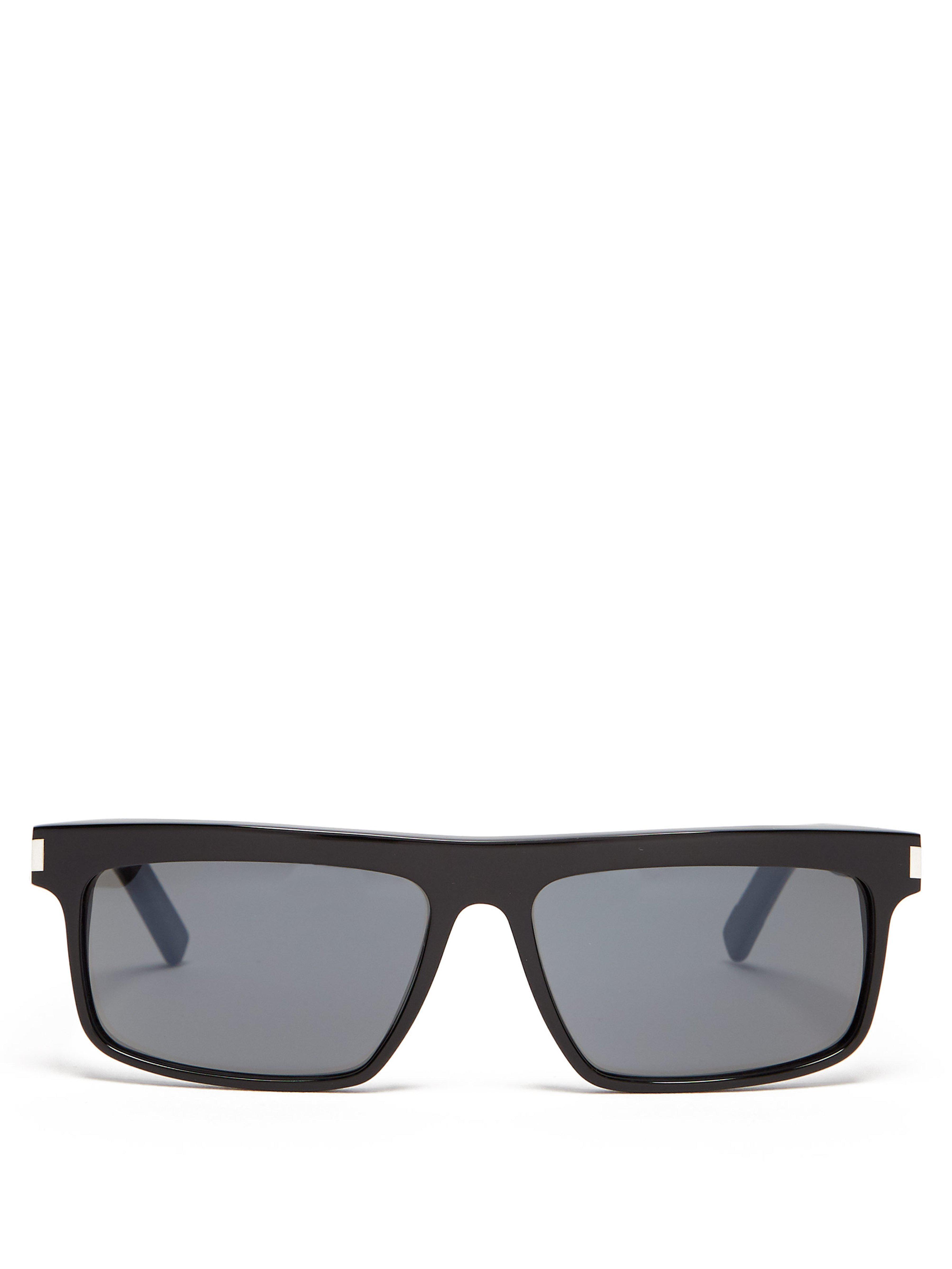 733b1652a053 Saint Laurent Square Frame Sunglasses in Black for Men - Lyst