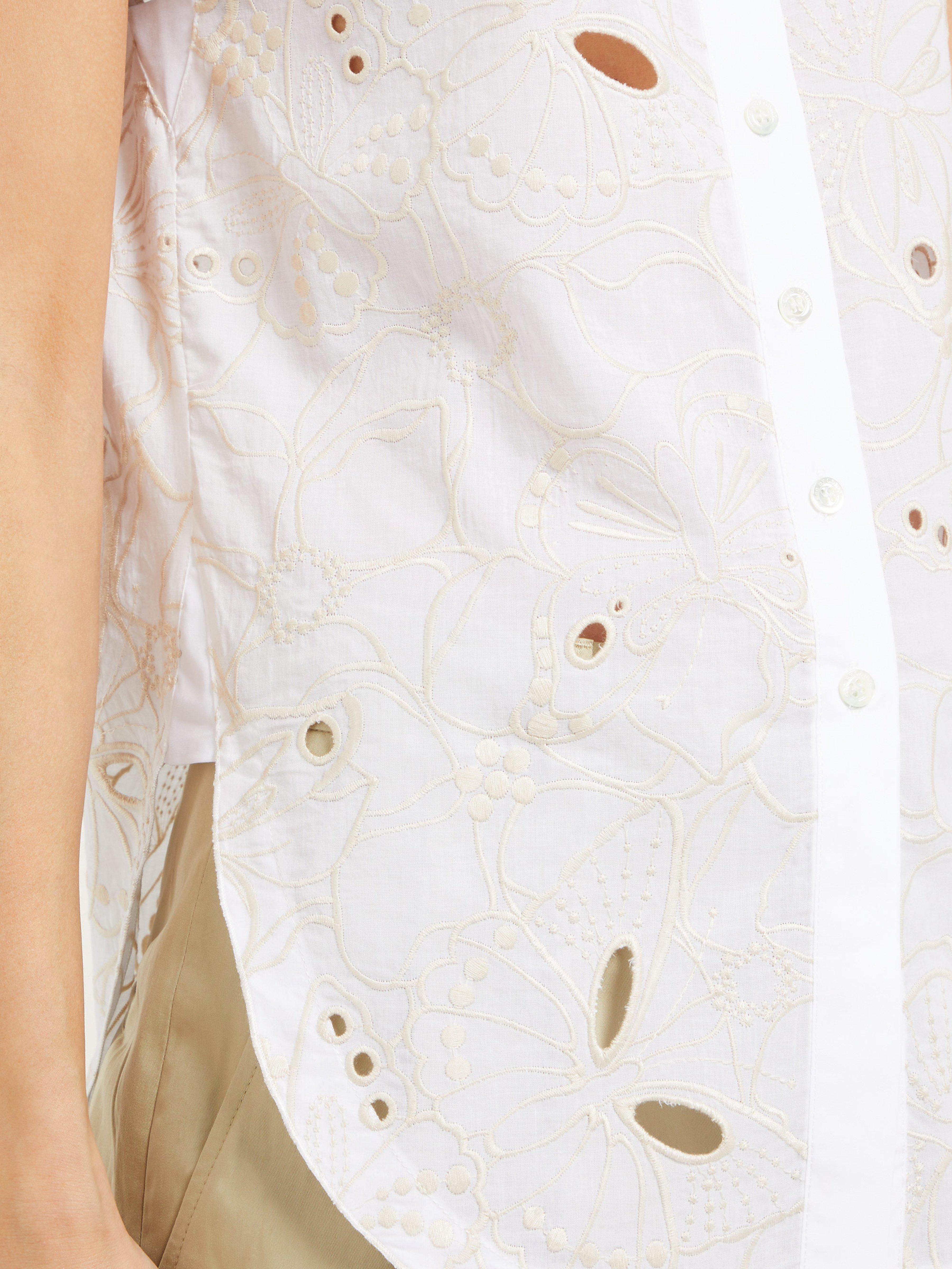 427ac9fc Women's White Summer Floral Broderie Anglaise Cotton Shirt