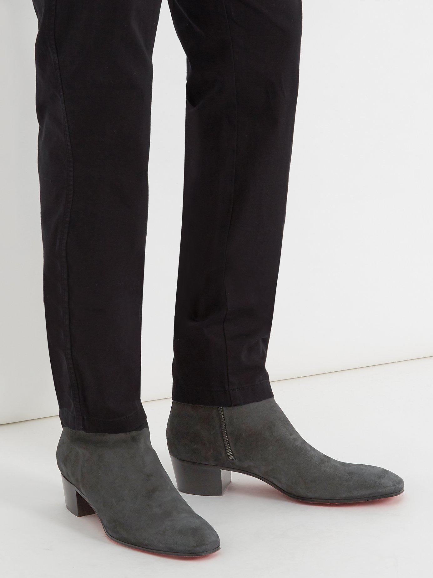 394218e4585 Men's Black Huston Suede Ankle Boots
