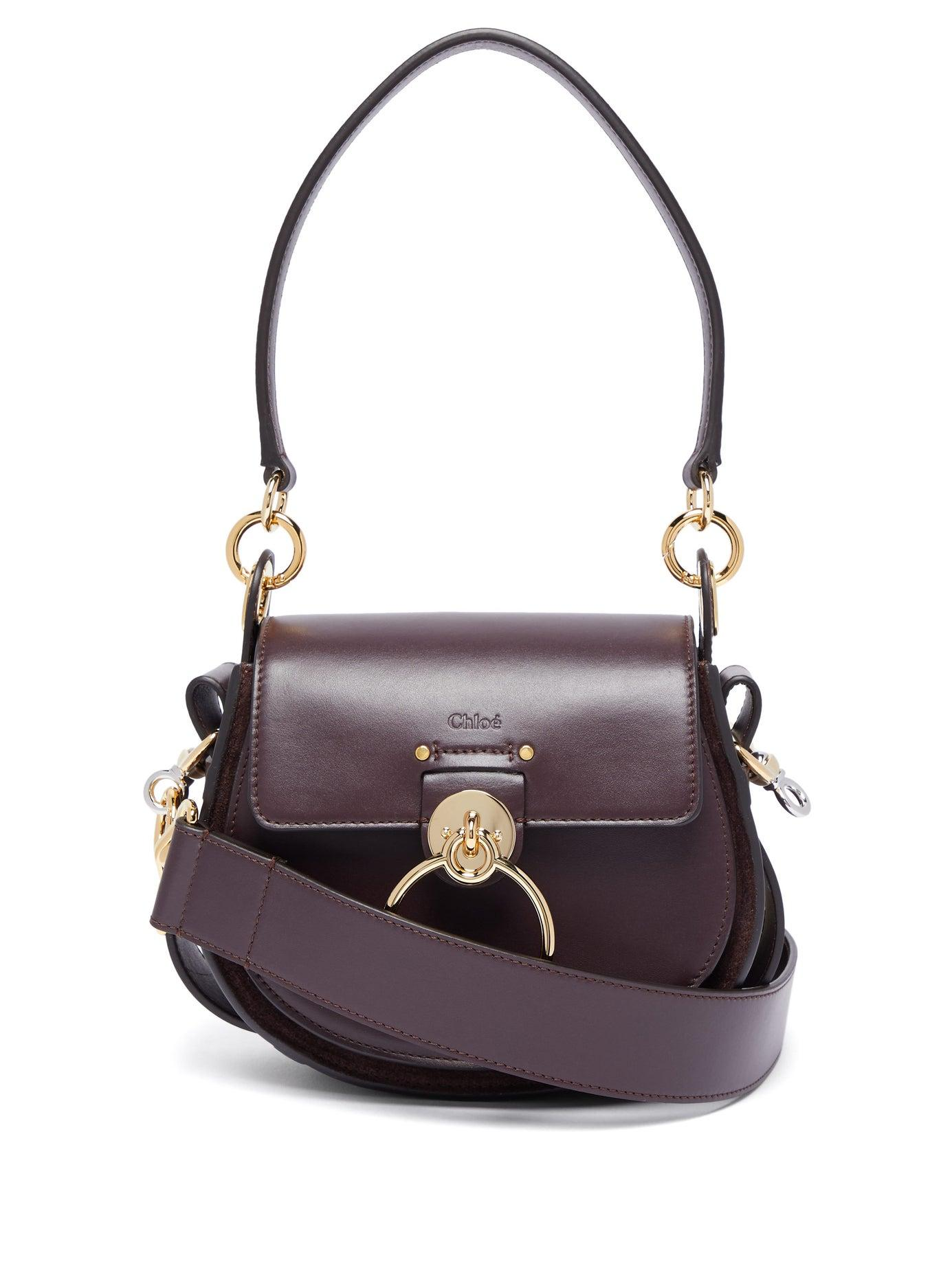 a5dbb61321f7 Chloé - Purple Tess Small Leather And Suede Cross Body Bag - Lyst. View  fullscreen