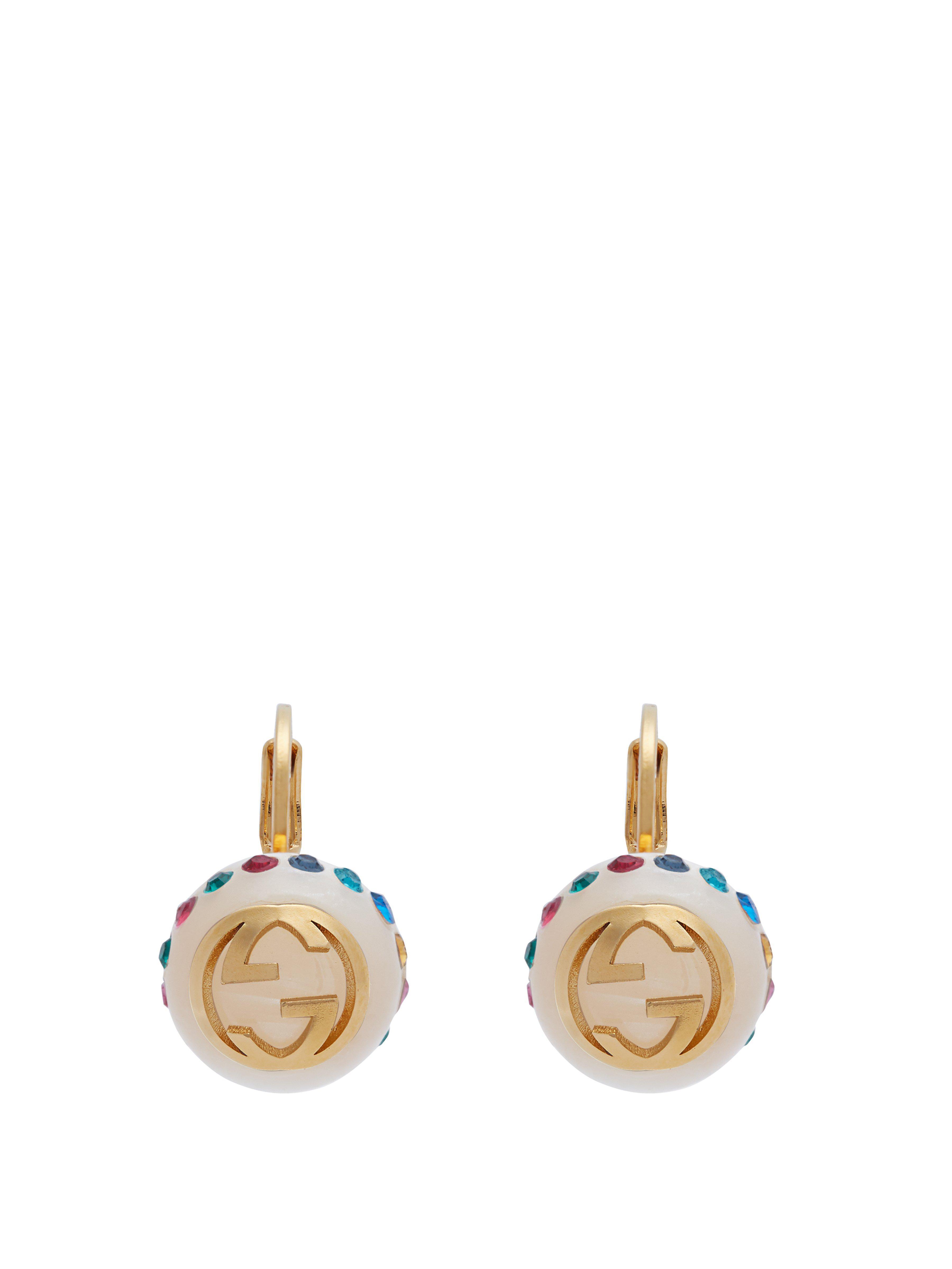 c717fd37453 Gucci Gg Faux Pearl Earrings - Lyst