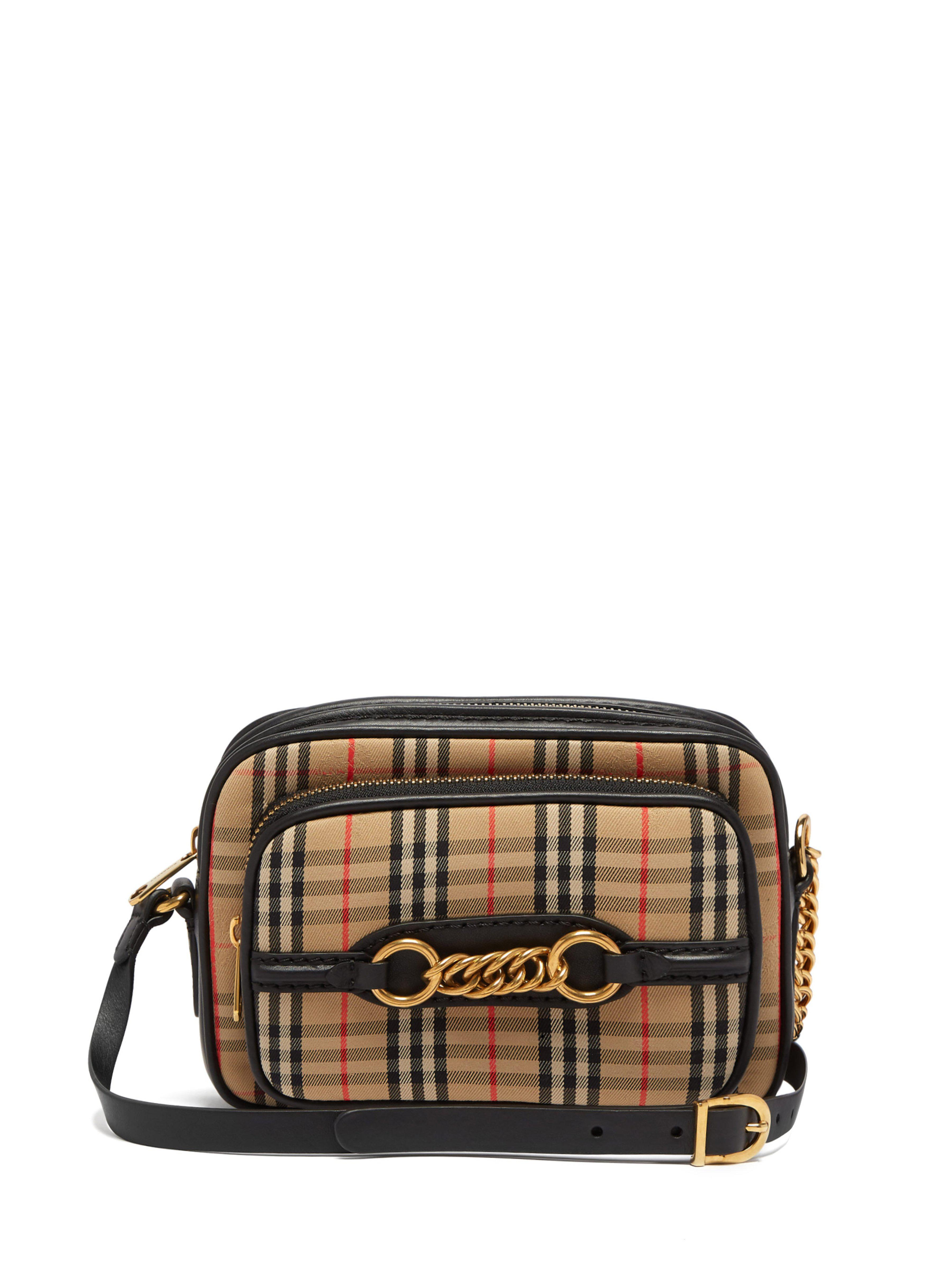 6c14d25f7055 Burberry Check Link Camera Bag in Black - Save 8% - Lyst