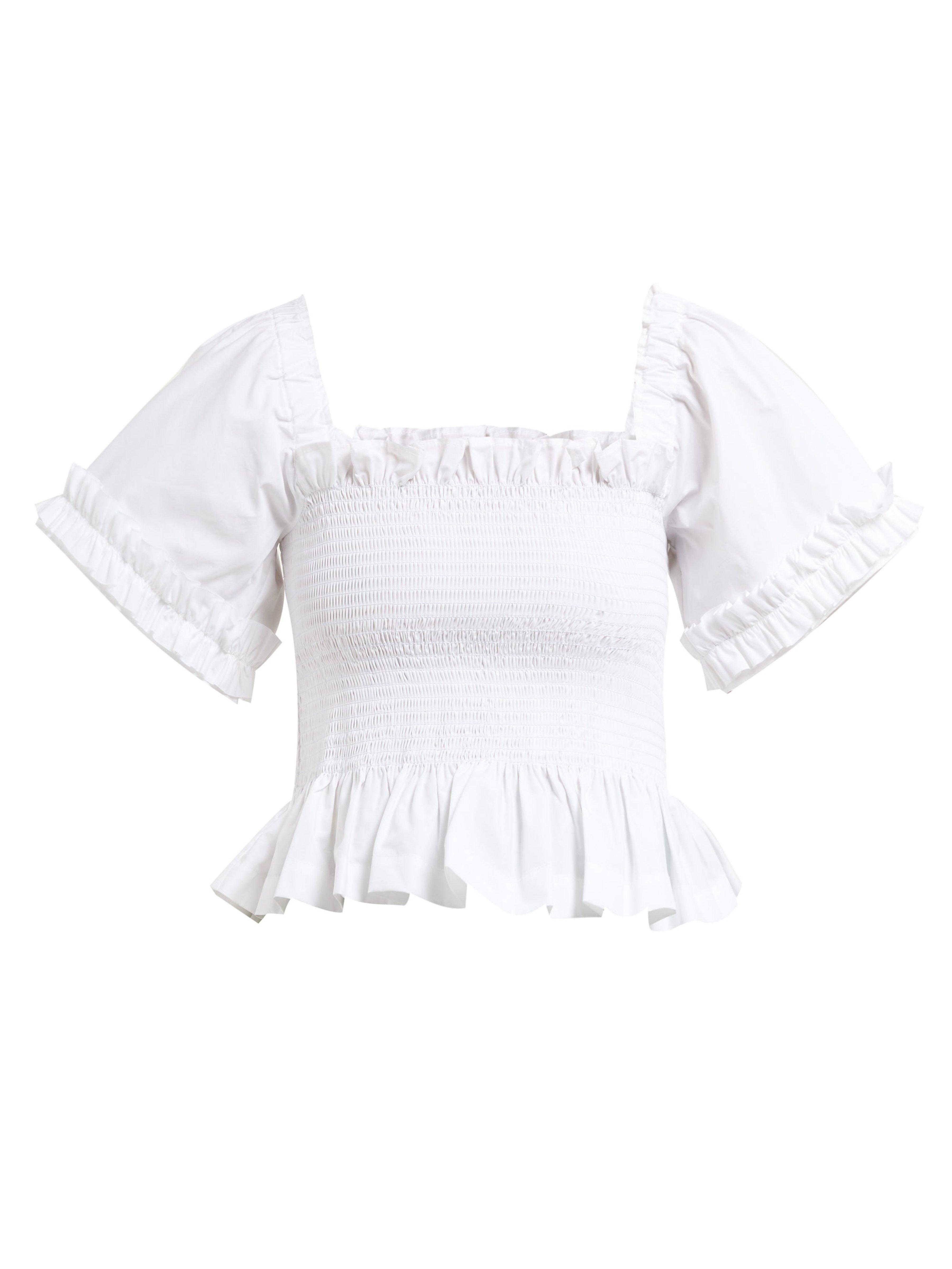 272db2dc30138 Molly Goddard Ruffled Blouse in White - Save 35% - Lyst