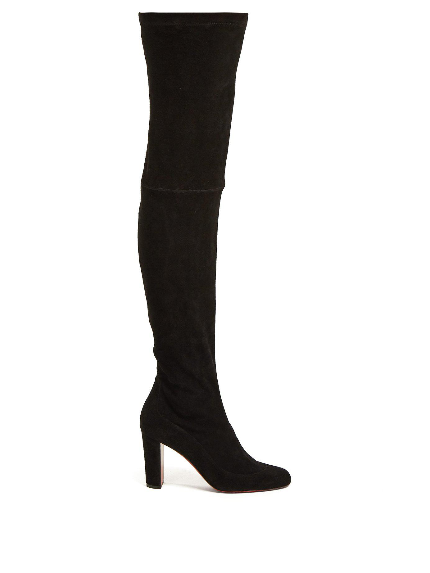 b1175b9e1dfb Lyst - Christian Louboutin Kiss Me Gina 85 Over The Knee Boots in Black