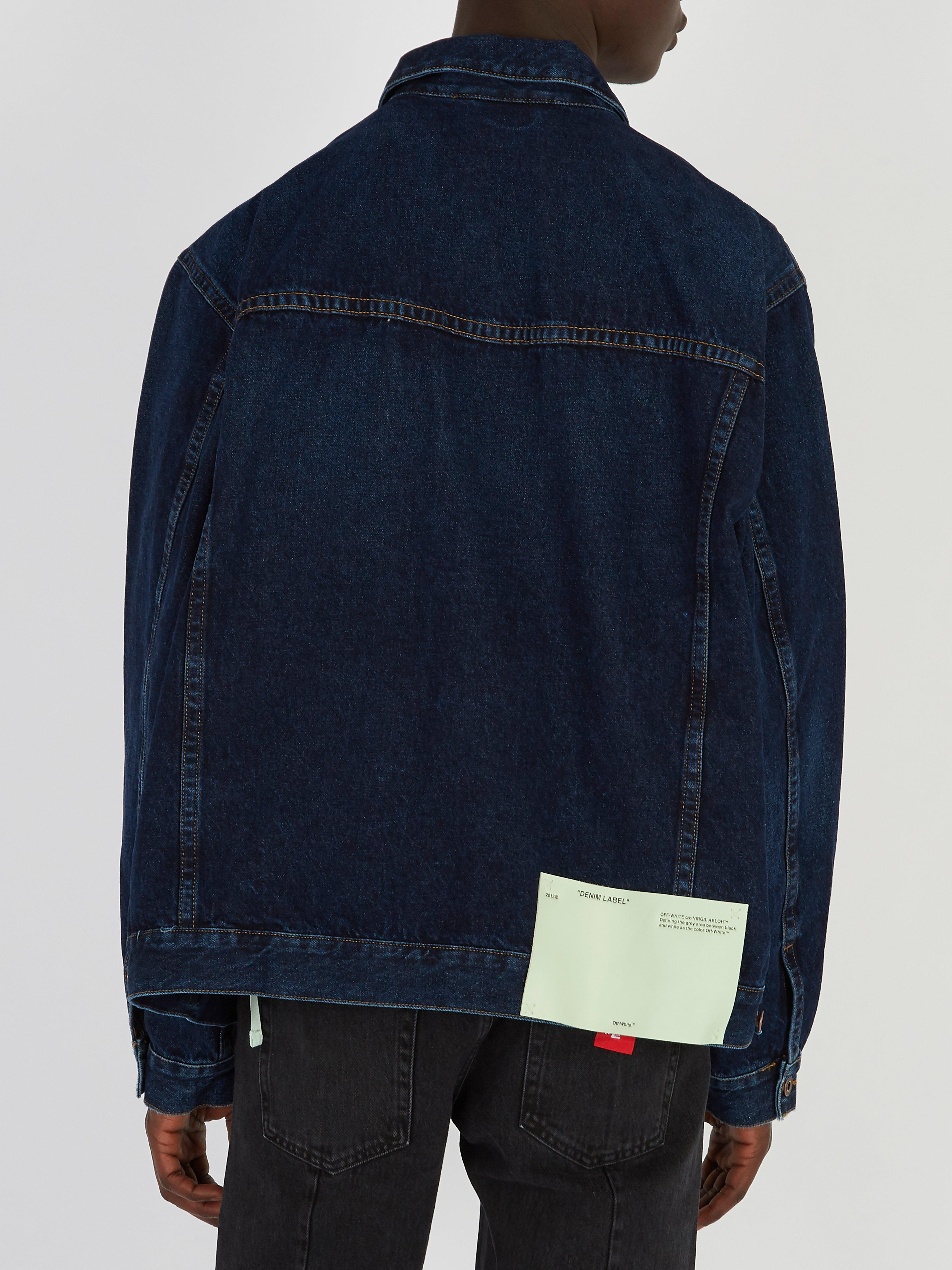 Off-White c/o Virgil Abloh Oversized Denim Jacket in Indigo (Blue) for Men
