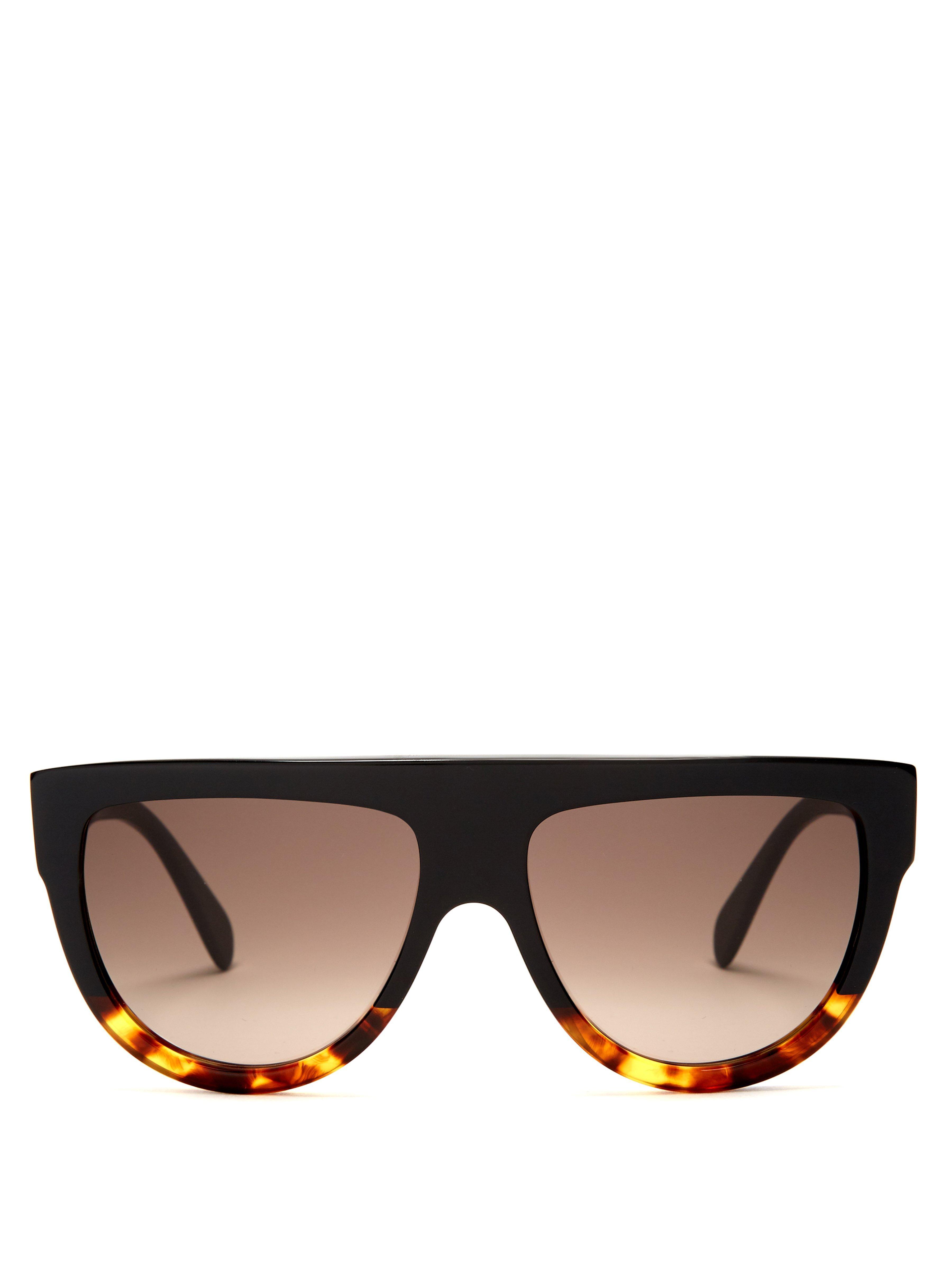 4e578553e4 Céline Aviator D Frame Acetate Sunglasses in Black - Lyst