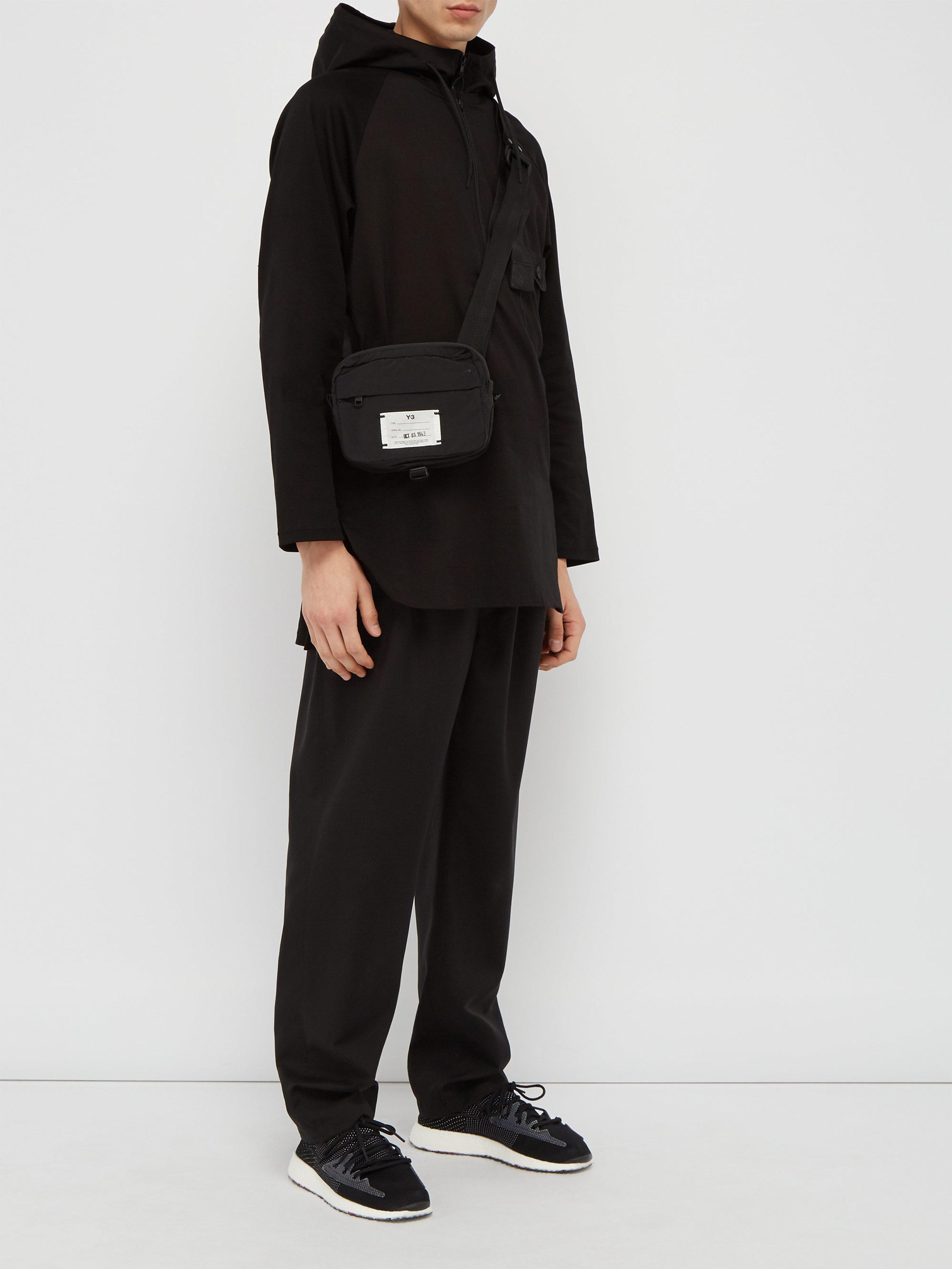 c2950604ac593 Y-3 Quarter Zip Jersey Hooded Top in Black for Men - Lyst