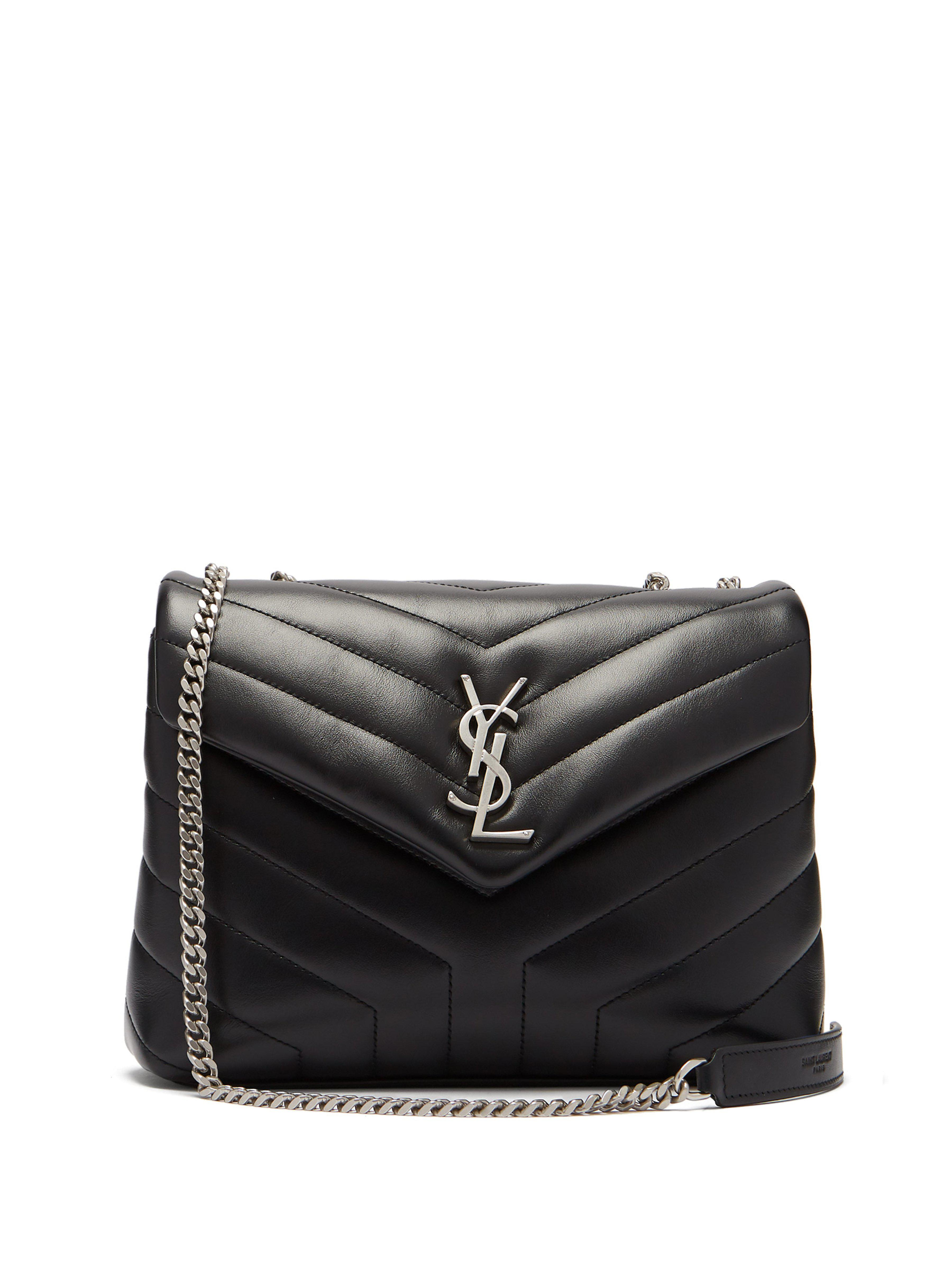 Saint Laurent Loulou Quilted Leather Shoulder Bag in Black - Lyst b617fbc07b233
