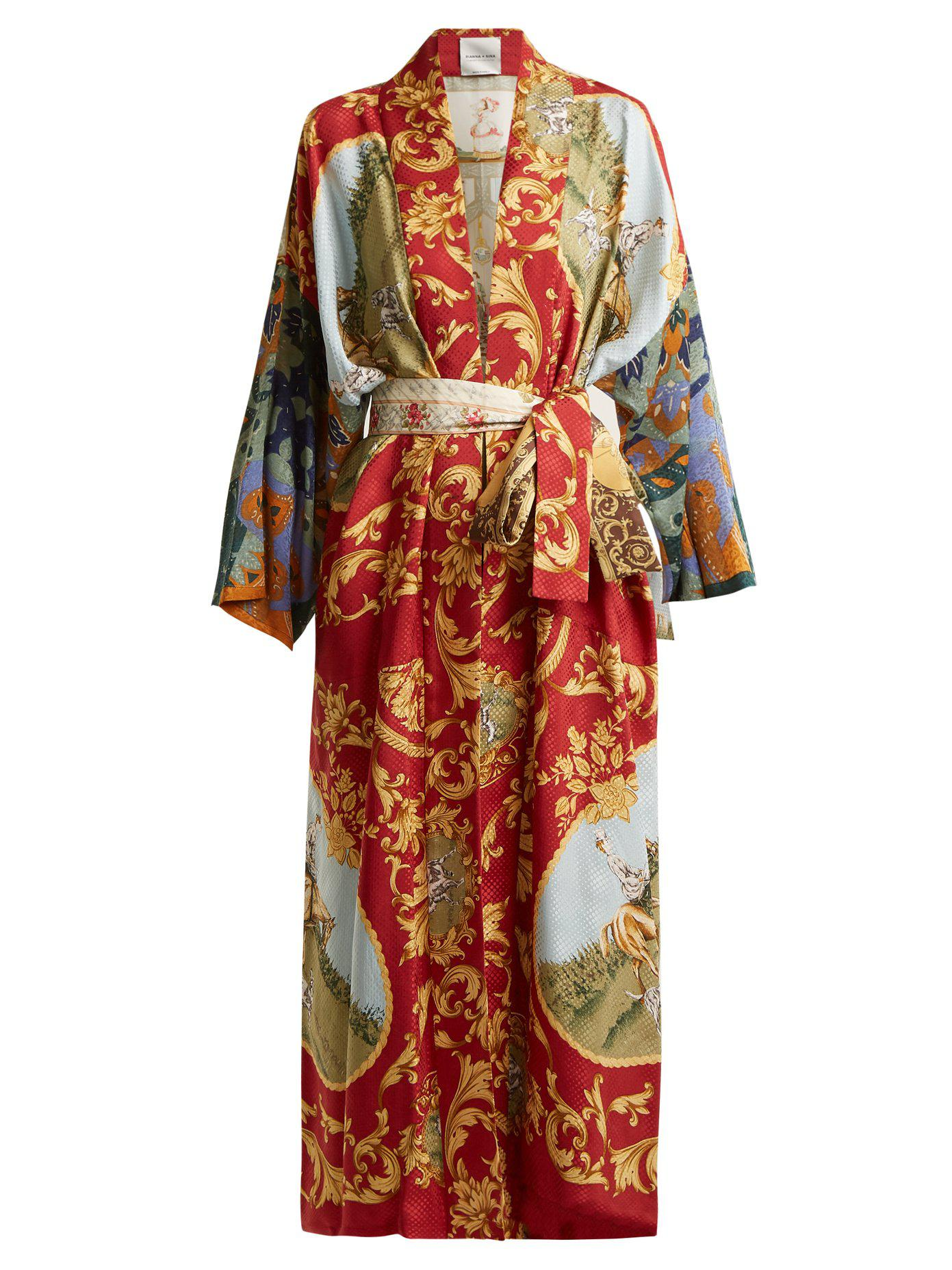 Free Shipping Prices Vintage patchwork silk kimono jacket Rianna + Nina Cheap Wholesale Outlet Clearance dXN9jtFF