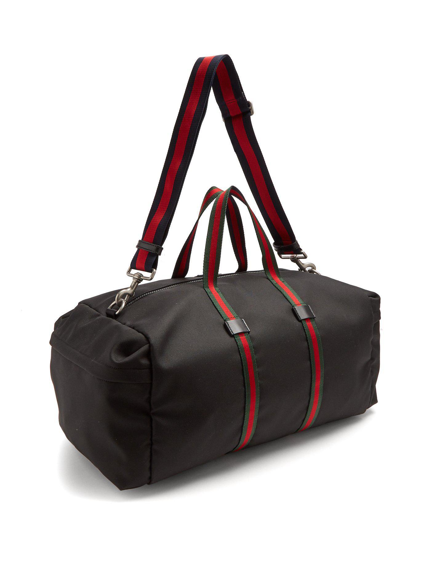 daa360a5282 Lyst - Sac de sport à rayures Web Gucci pour homme en coloris Noir
