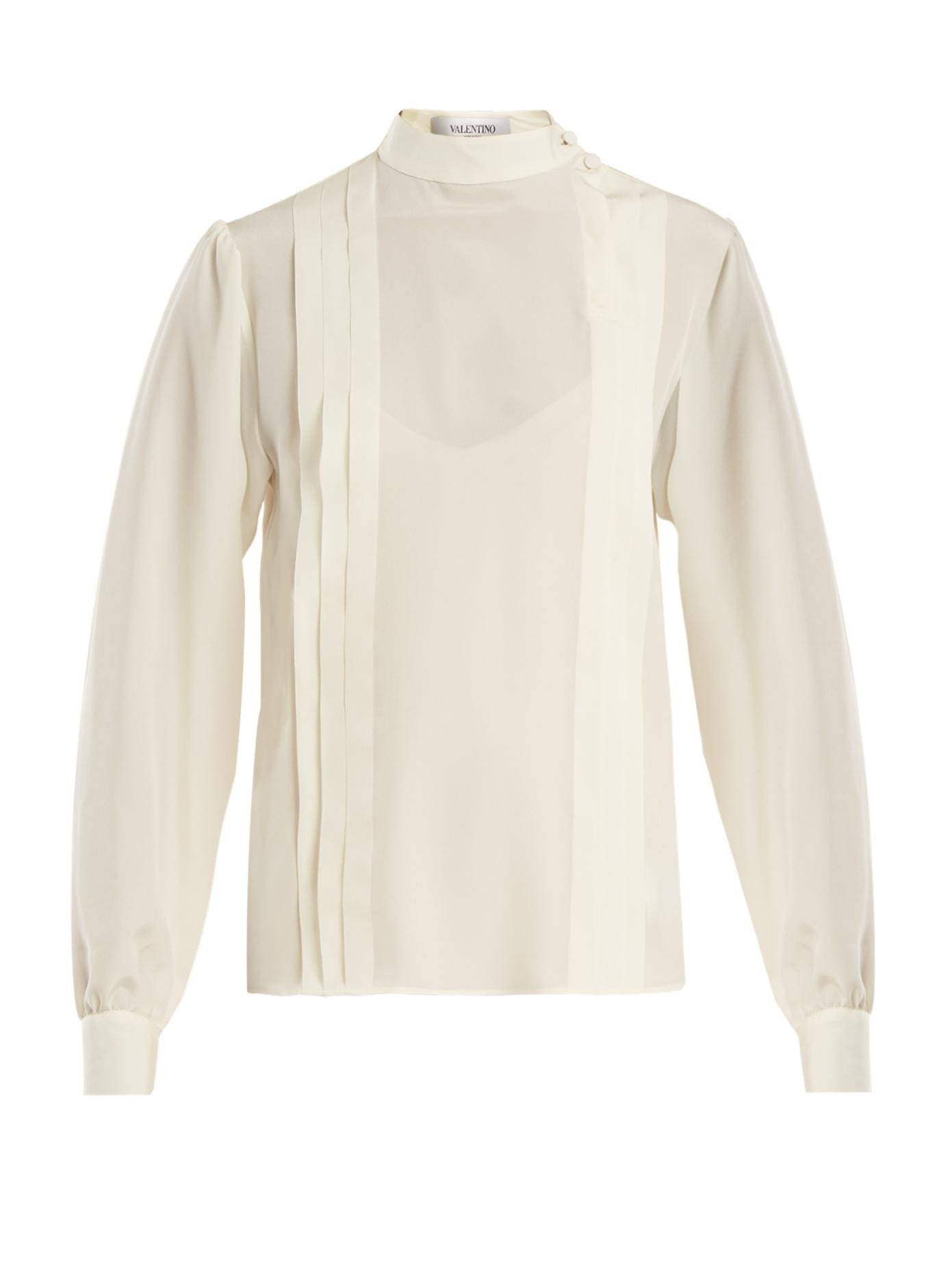 Buy Online Cheap pleated blouse - White Valentino Buy Cheap Popular Sale Wholesale Price For Cheap 5UdRLtQp