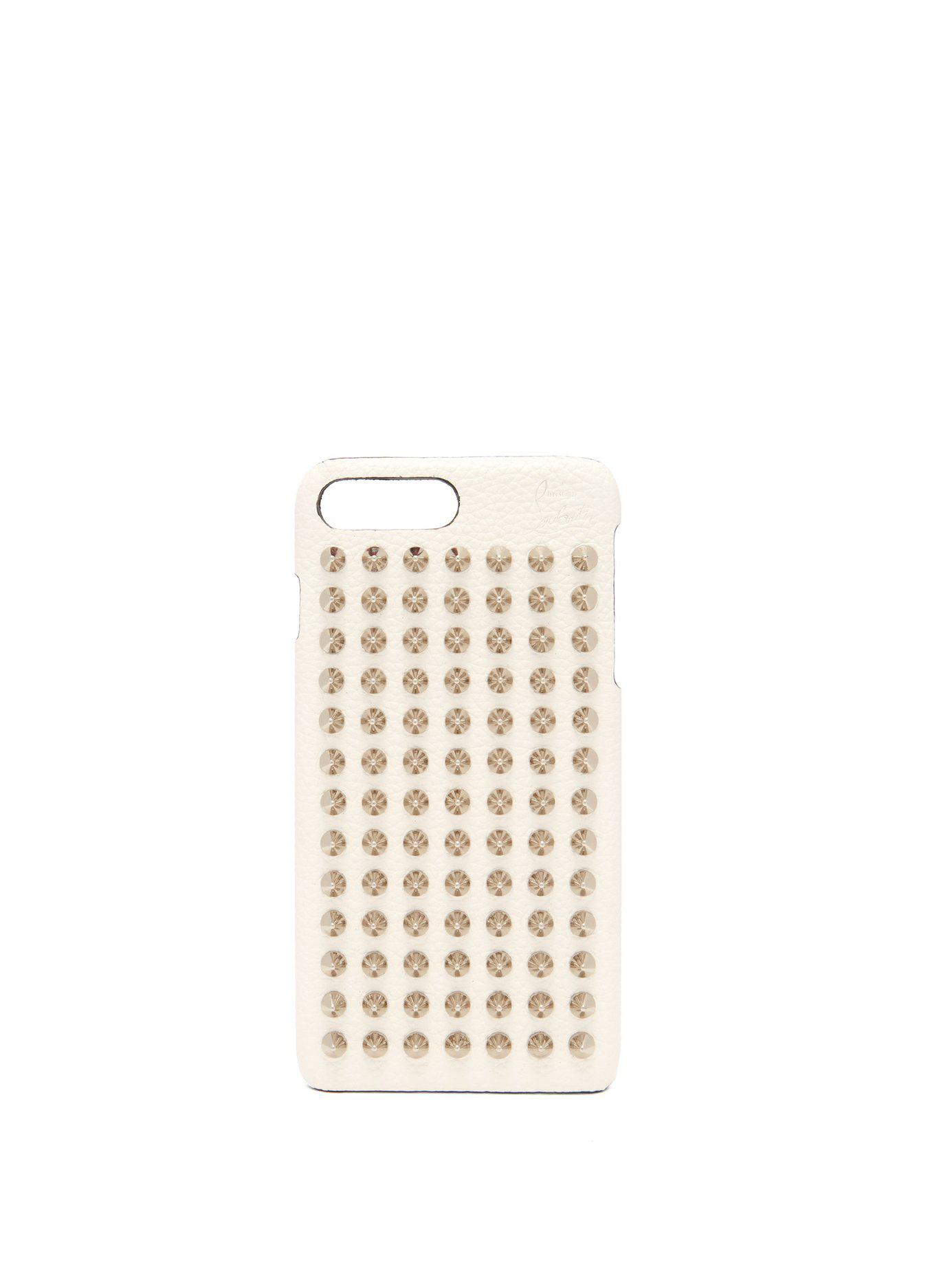 8e505c52af7 Lyst - Christian Louboutin Loubiphone Leather Iphone® 7   8 Plus Case