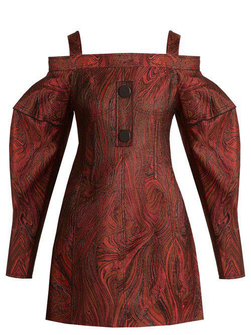 Bougie off-the-shoulder marble-jacquard dress Ellery Buy Cheap 2018 Unisex auHJDTm2