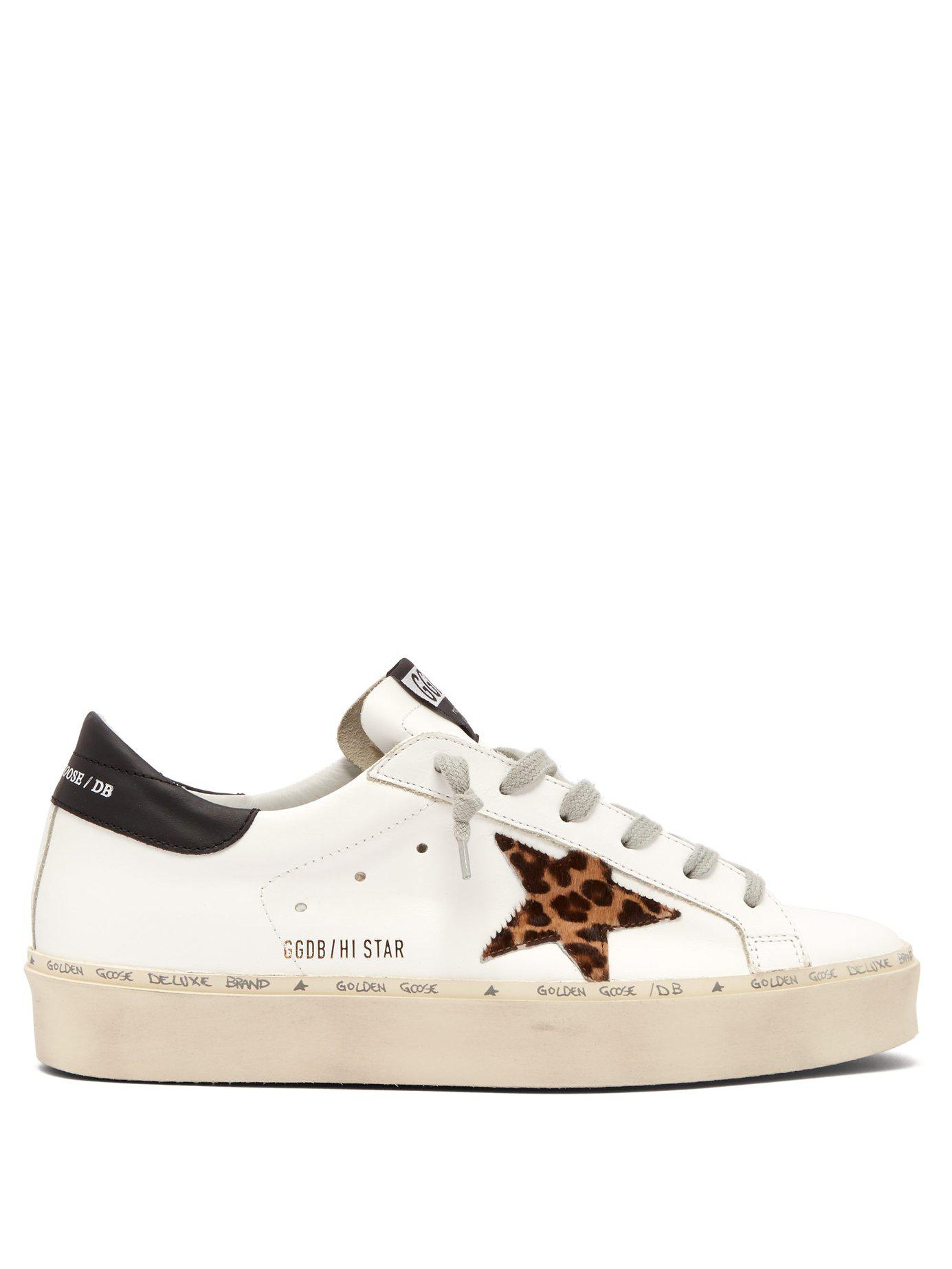 72edda1c8376 Golden Goose Deluxe Brand. Women s Hi Star Leather Low Top Trainers