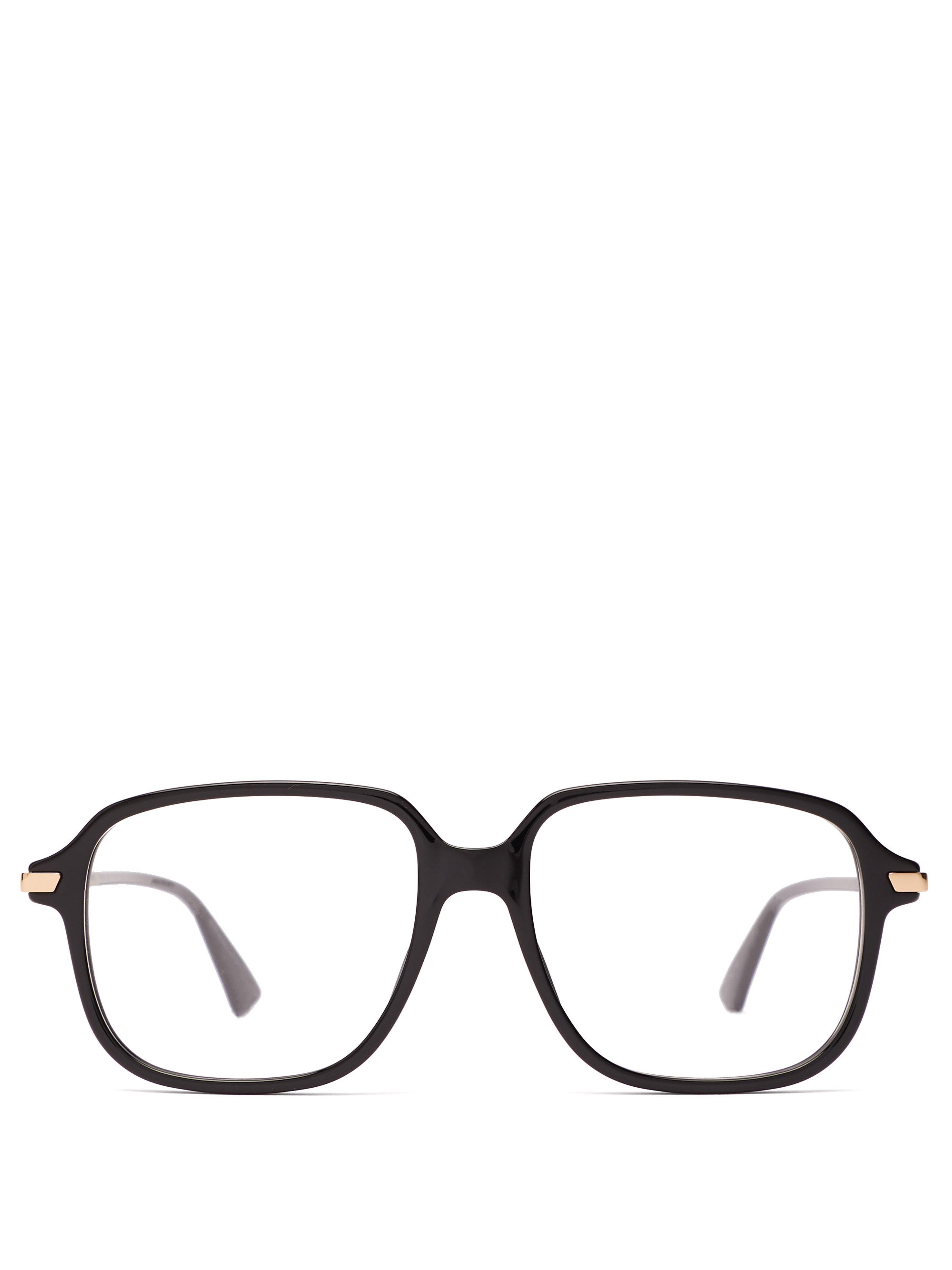 df916114506 Dior Dioressence19 Square Frame Acetate Glasses in Black - Lyst