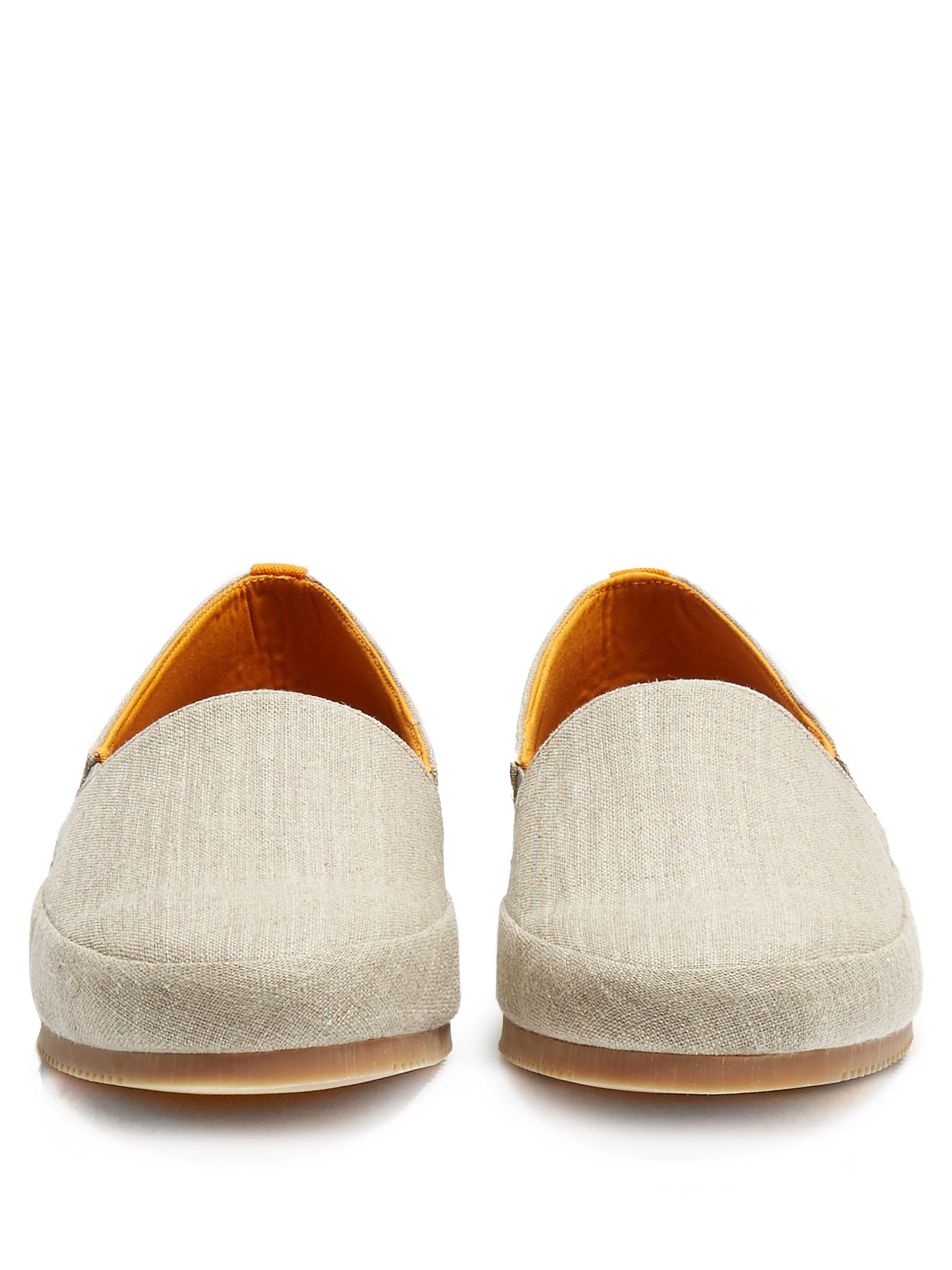 Mulo Linen Loafers in Beige (Natural) for Men