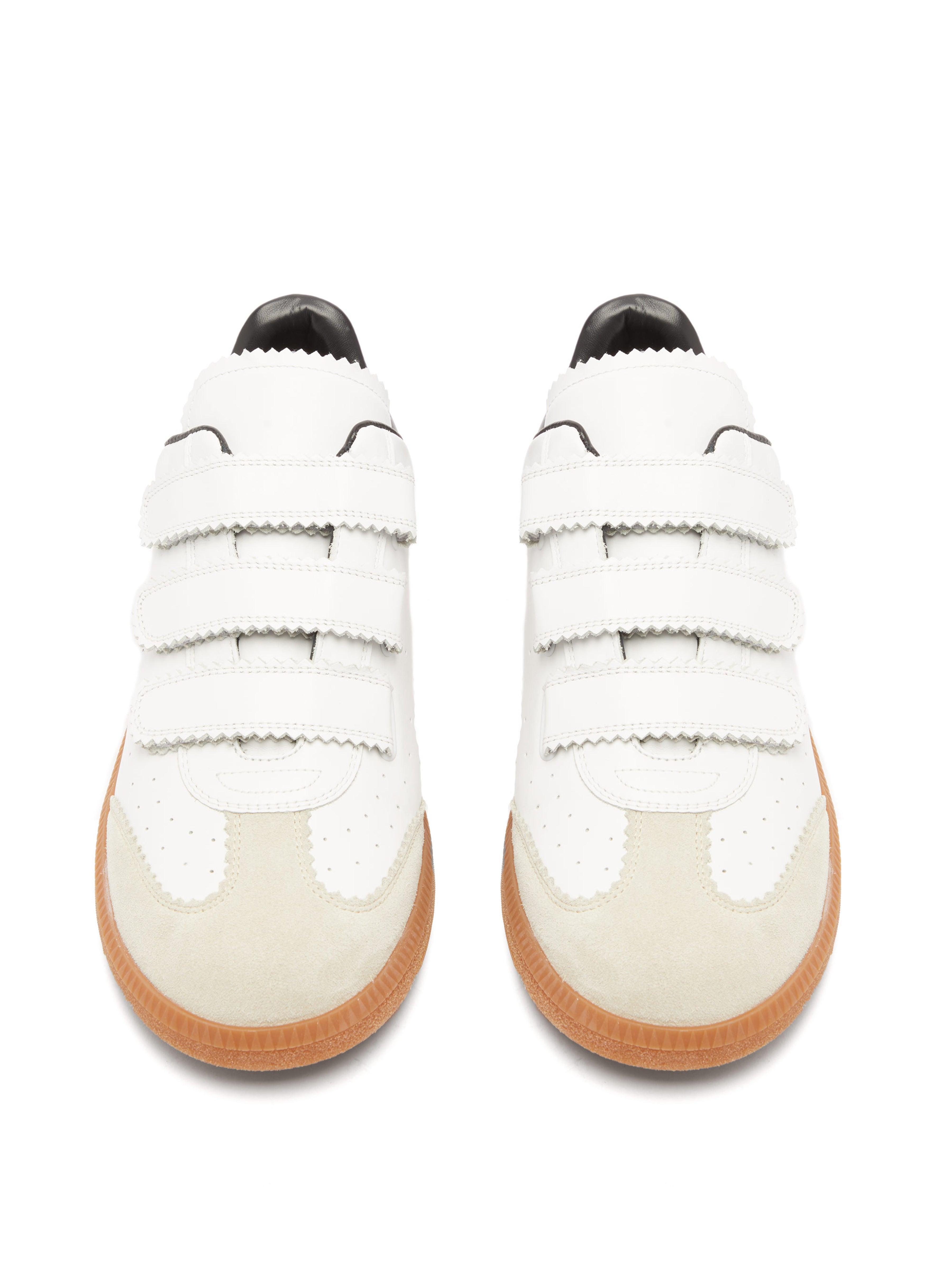 Baskets en cuir à fermeture Velcro Bethy Cuir Isabel Marant pour homme en coloris Blanc vjwc