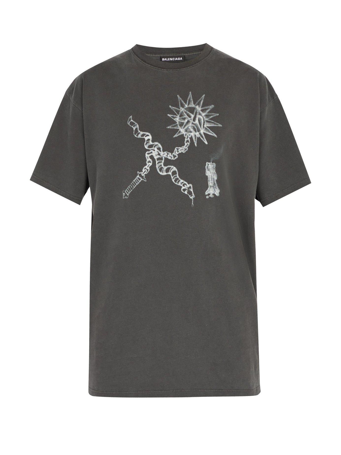 523e9a901e8b Balenciaga - Black Goth Oversized Cotton T Shirt for Men - Lyst. View  fullscreen