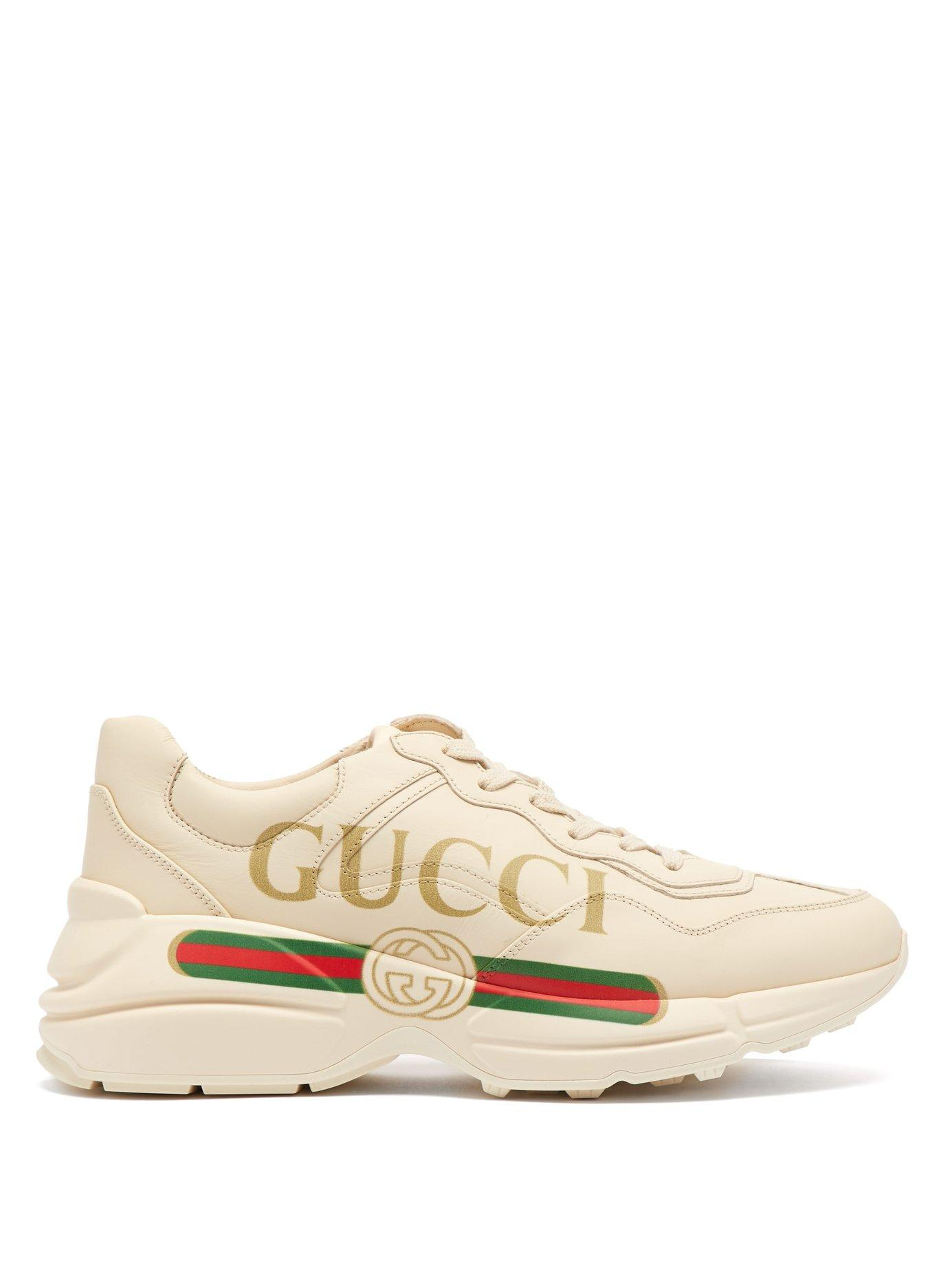 533e4d715 Gucci - Multicolor Rhyton Logo Leather Low Top Trainers - Lyst. View  fullscreen