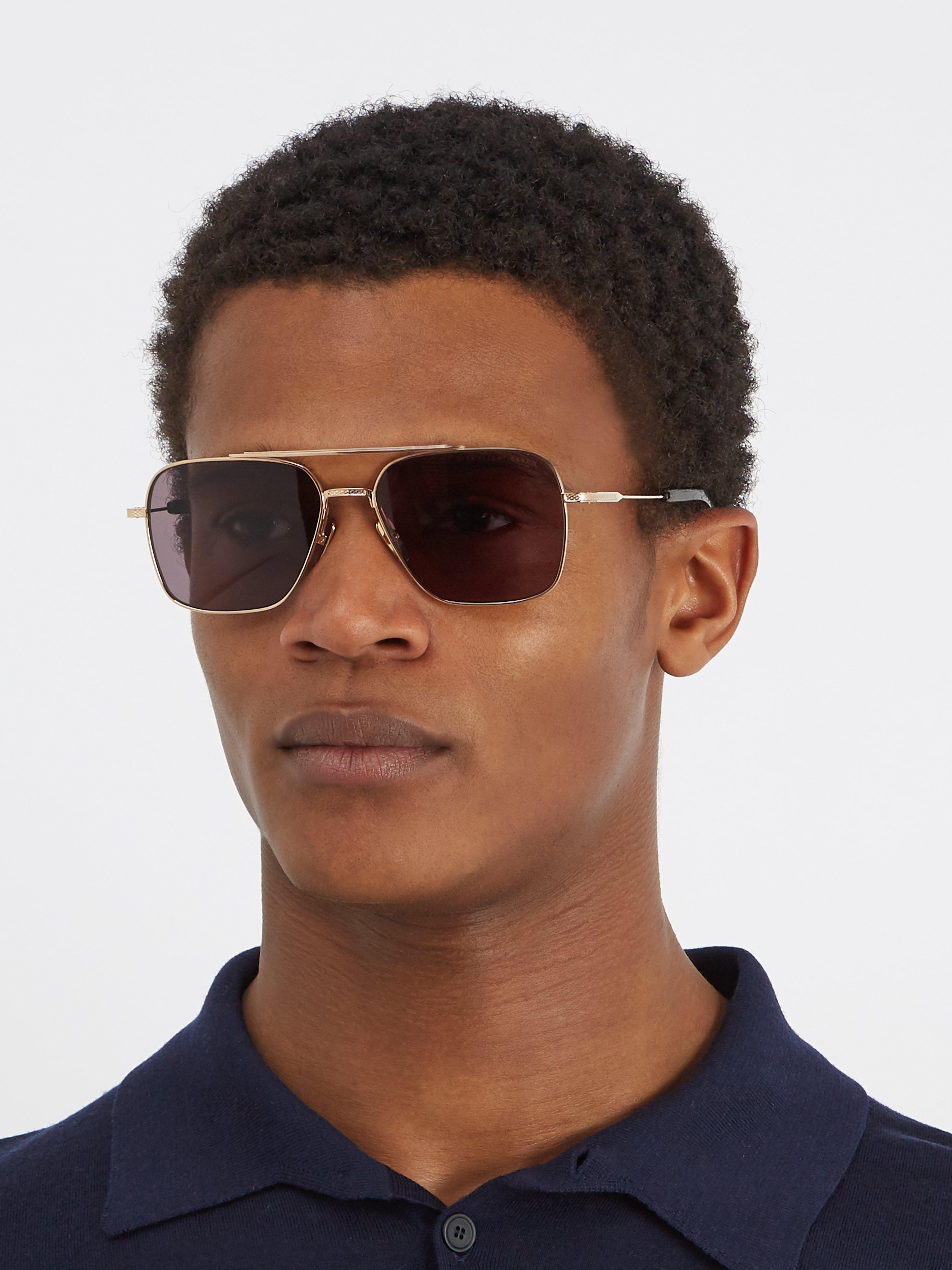 ab9f4a4ba1330 Dita Eyewear Flight Seven Aviator Titanium Sunglasses in Metallic for Men -  Lyst