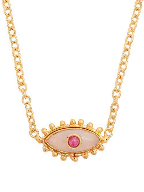 Sylvia Toledano Evil Eye Quartz Gold-plated Necklace in Pink