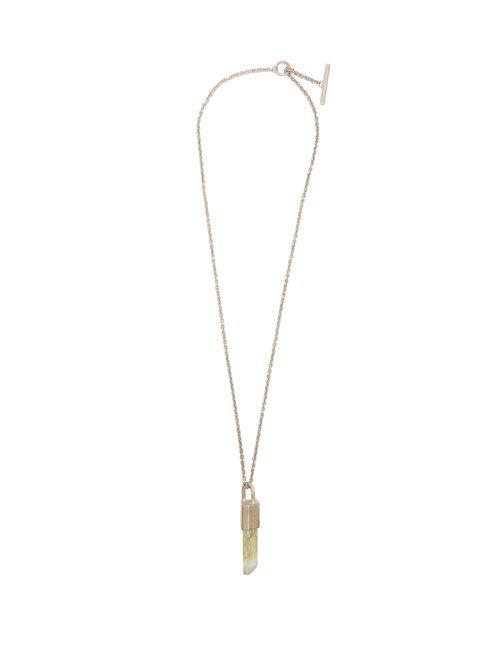 Parts Of Four Talisman hiddenite pendant & silver necklace GxW787KWZ