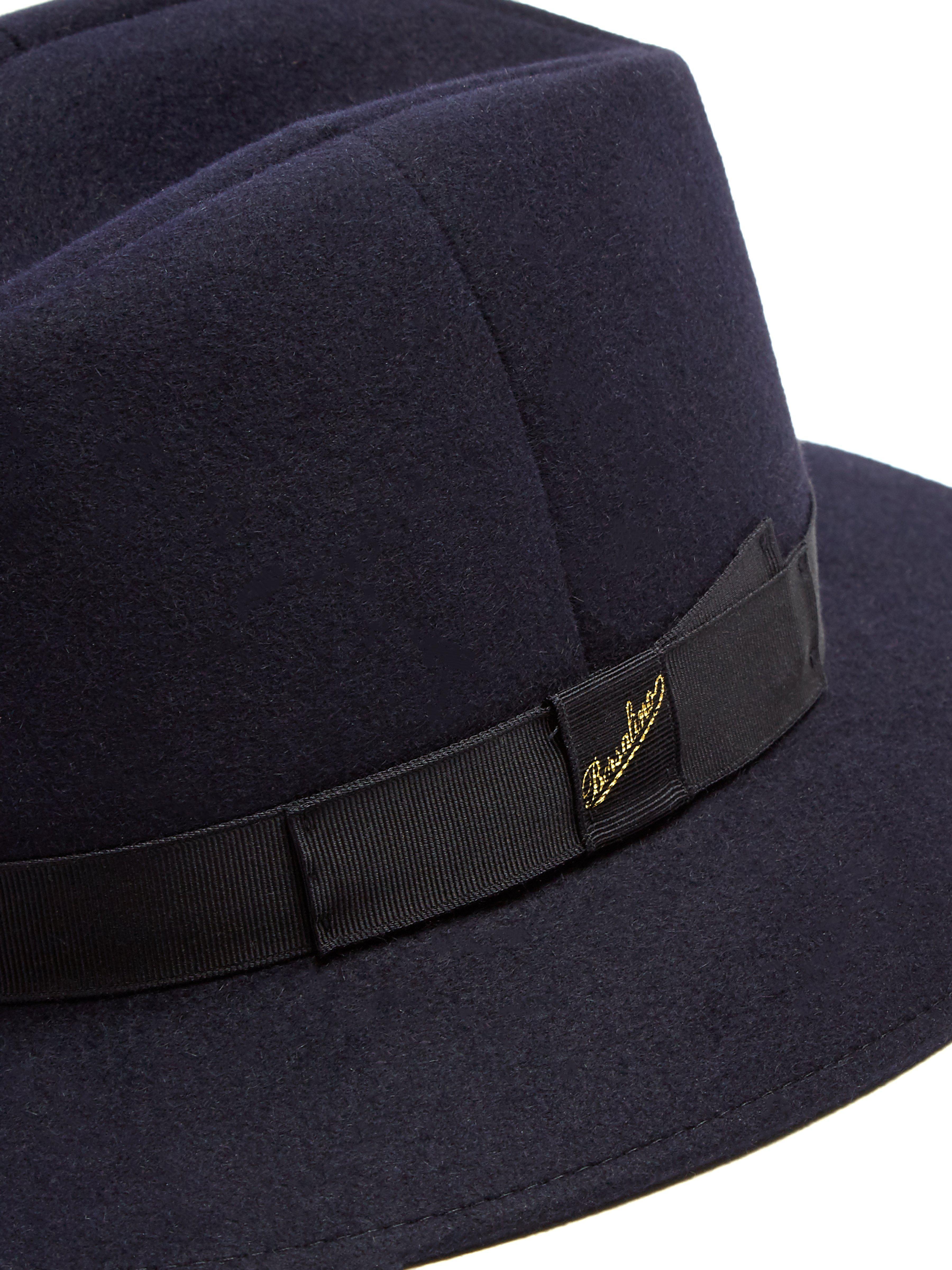 4df6f8bc86f Borsalino Alessandria Casual Felt Hat in Blue for Men - Lyst