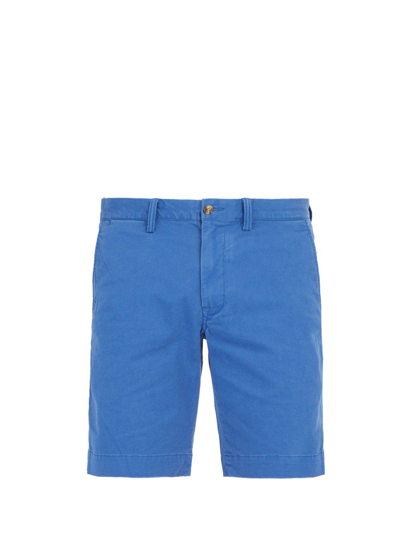 44057e0d0 Lyst - Polo Ralph Lauren Tailored Cotton Blend Chino Shorts in Blue ...