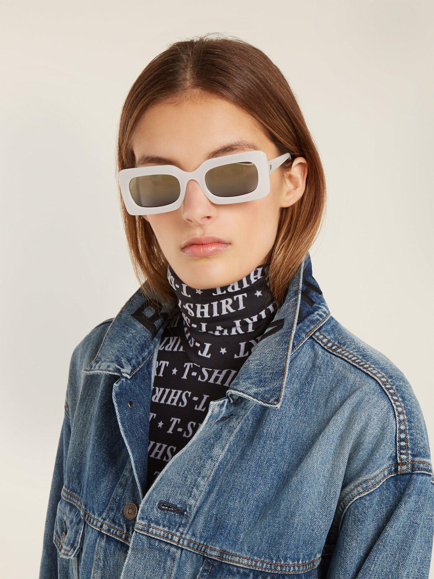 Sunglasses Specs Le DamnRectangle Acetate Frame White qSUGzpMV
