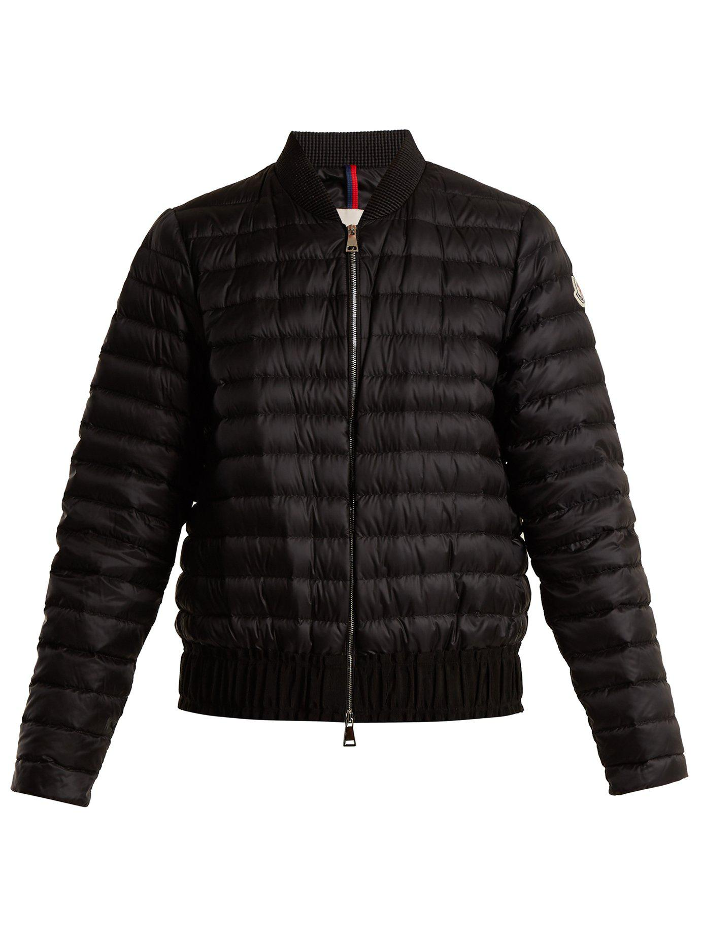 698ea372a Lyst - Moncler Barytine Quilted Down Bomber Jacket in Black