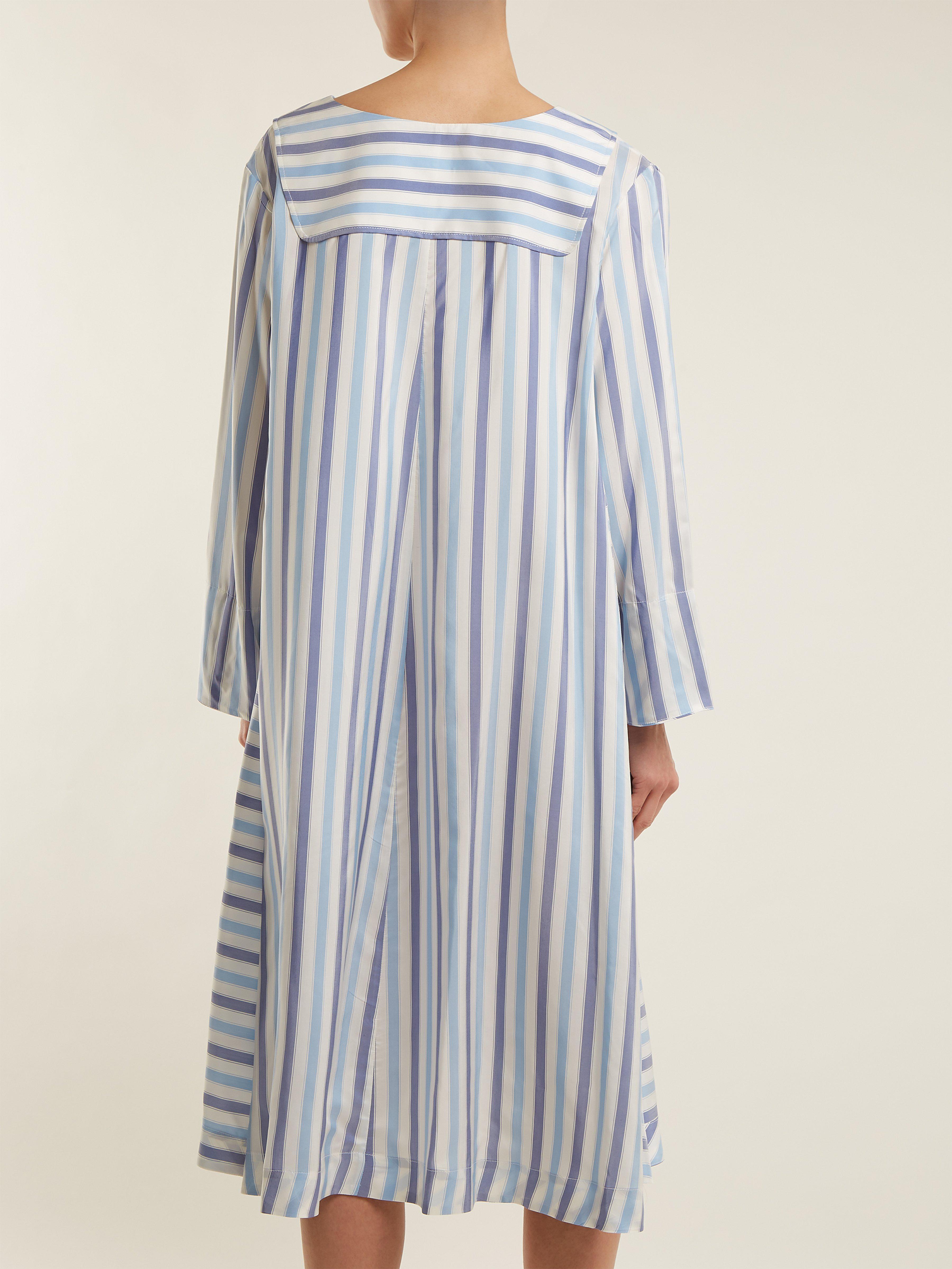 2d8d9309c thierry-colson-blue-stripe-Samia-Silk-Ottoman-Cover-Up.jpeg