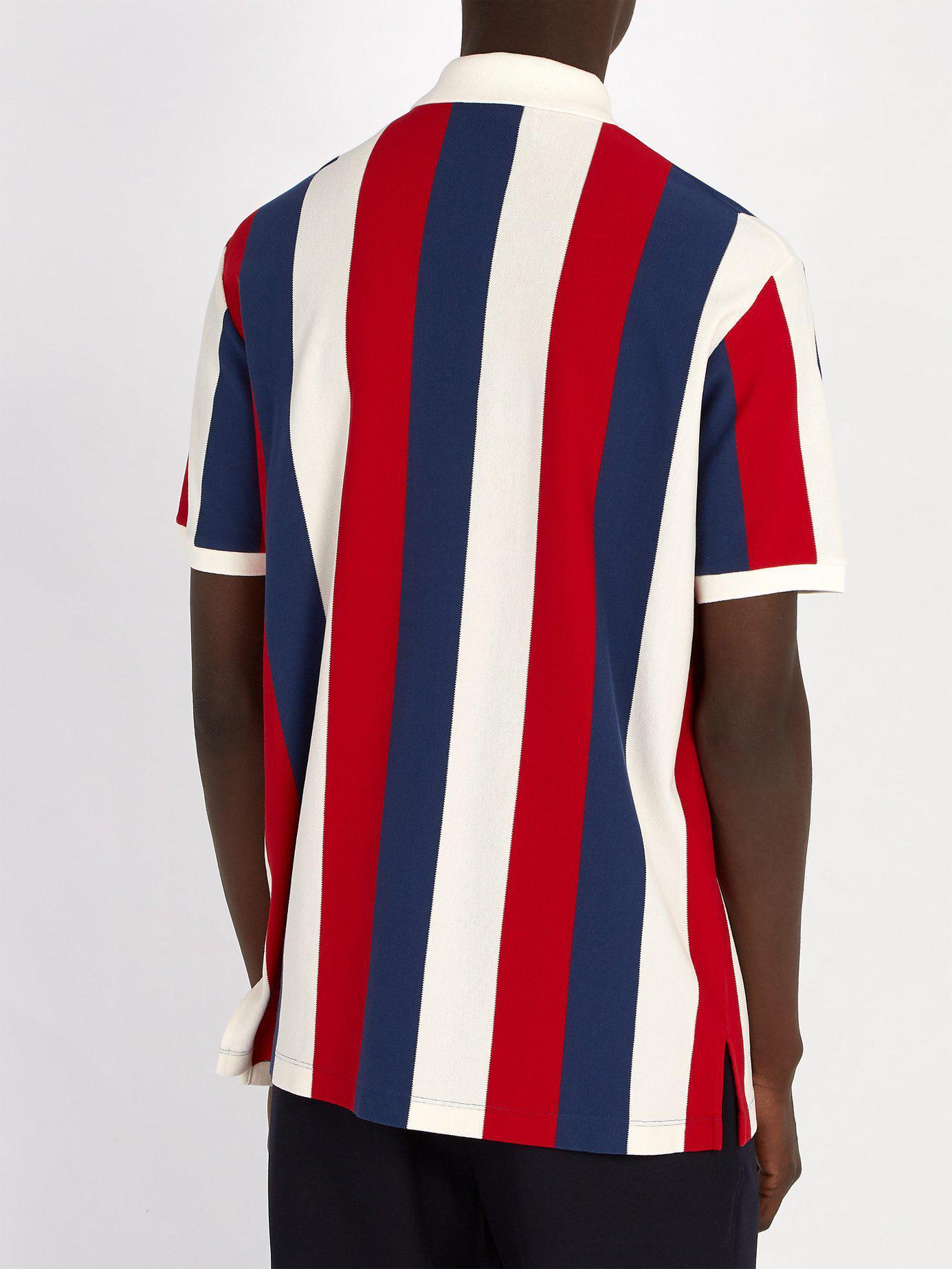 Polo rayé Baiadera Coton Gucci pour homme