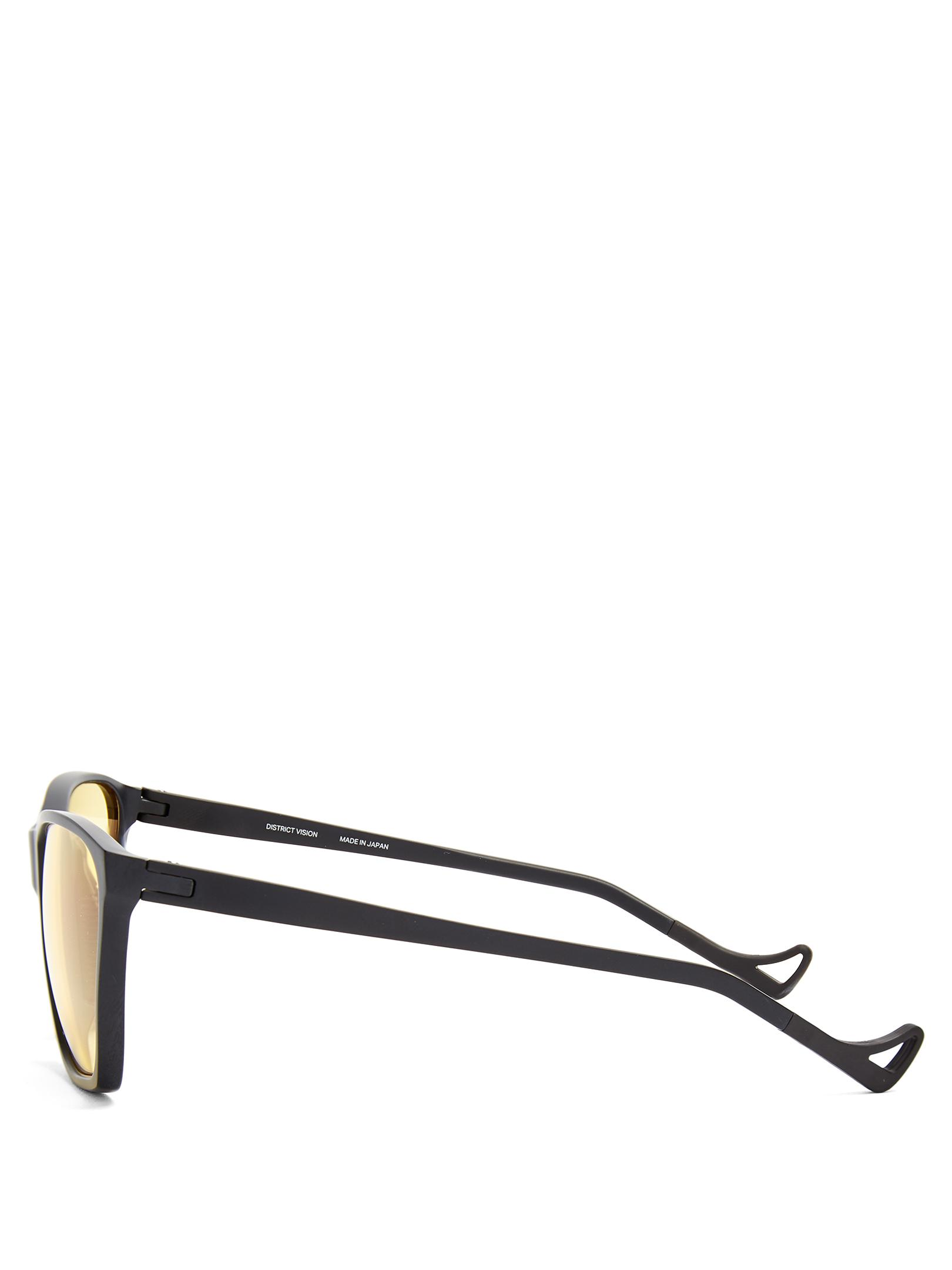 District Vision Synthetic Keiichi Square-frame Performance Sunglasses in Black for Men