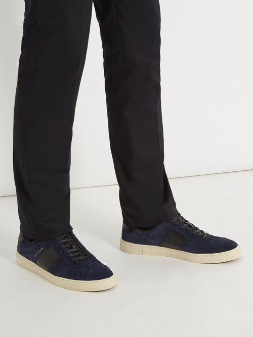 Paul Smith Levon Suede Trainers in Navy (Blue) for Men