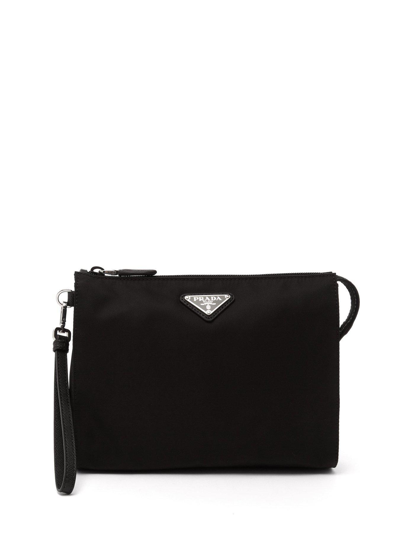 23db7cfabff8 Lyst - Prada Logo Plaque Wash Bag in Black for Men