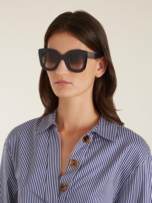 7949cee9eb4 Lyst - Céline Marta Cat-eye Acetate Sunglasses in Blue
