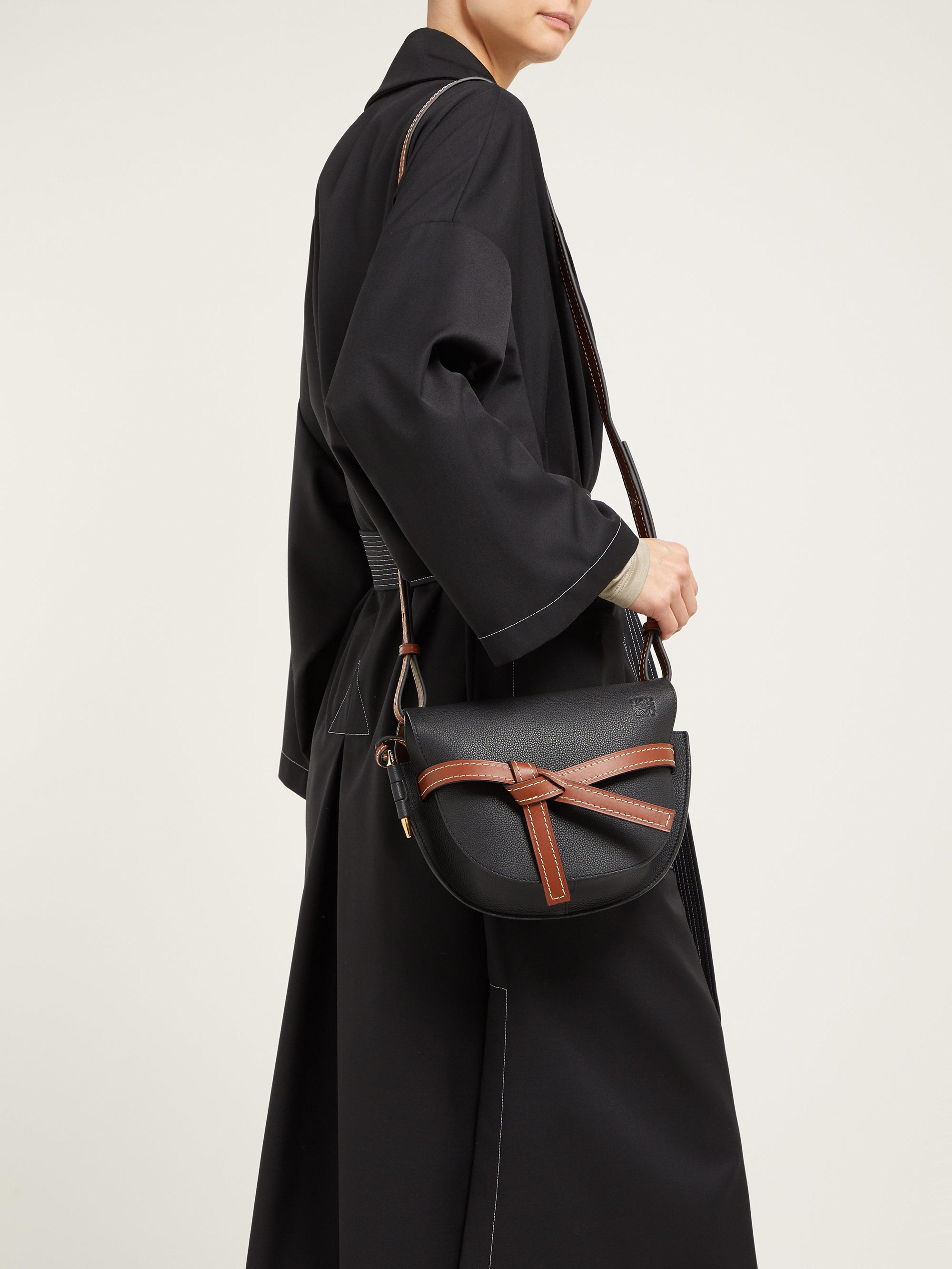 35333c33ee2 Loewe Gate Small Grained Leather Cross Body Bag in Black - Lyst