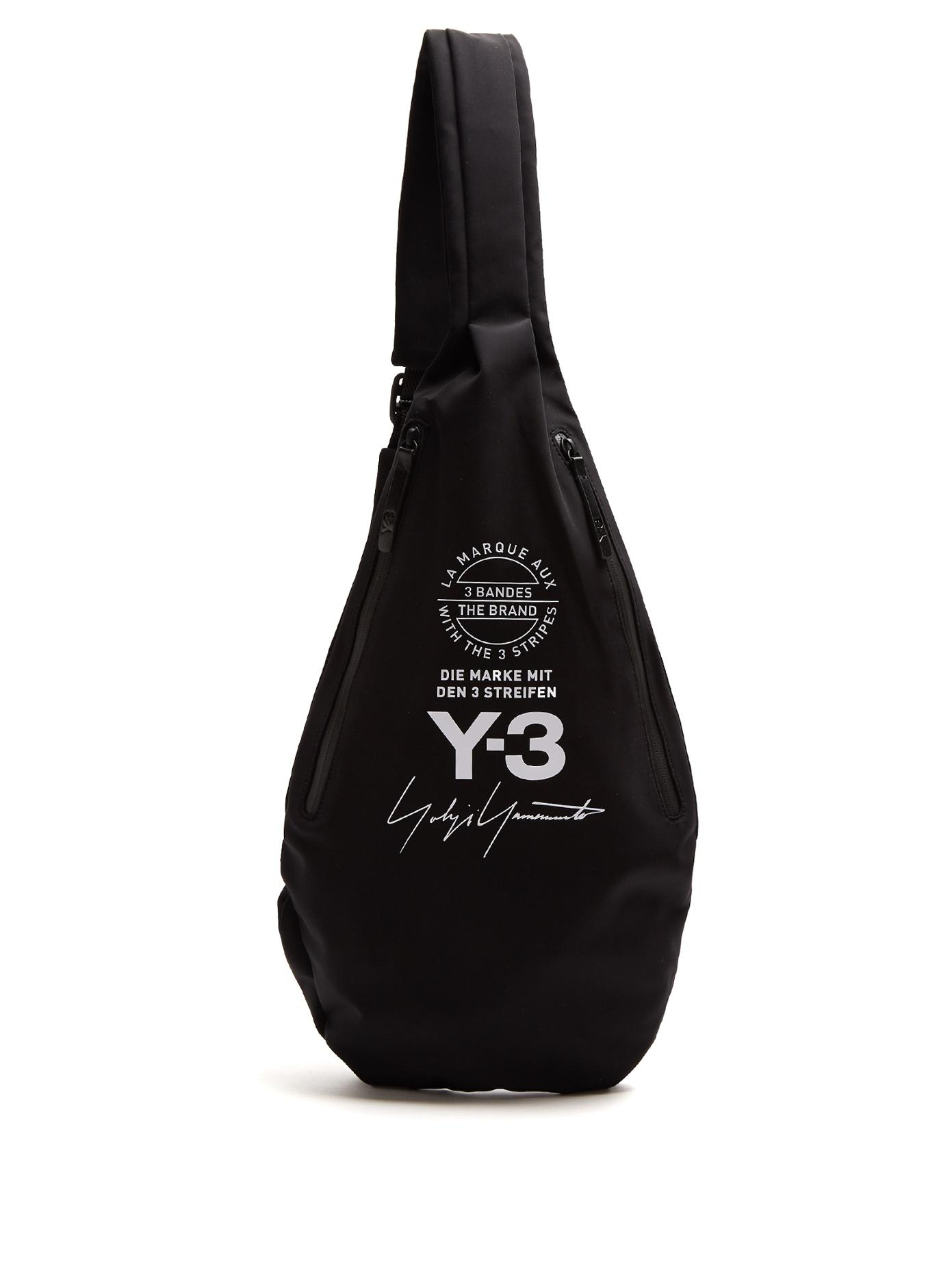 f4e0059449 Lyst - Y-3 Logo-print Neoprene Backpack in Black for Men