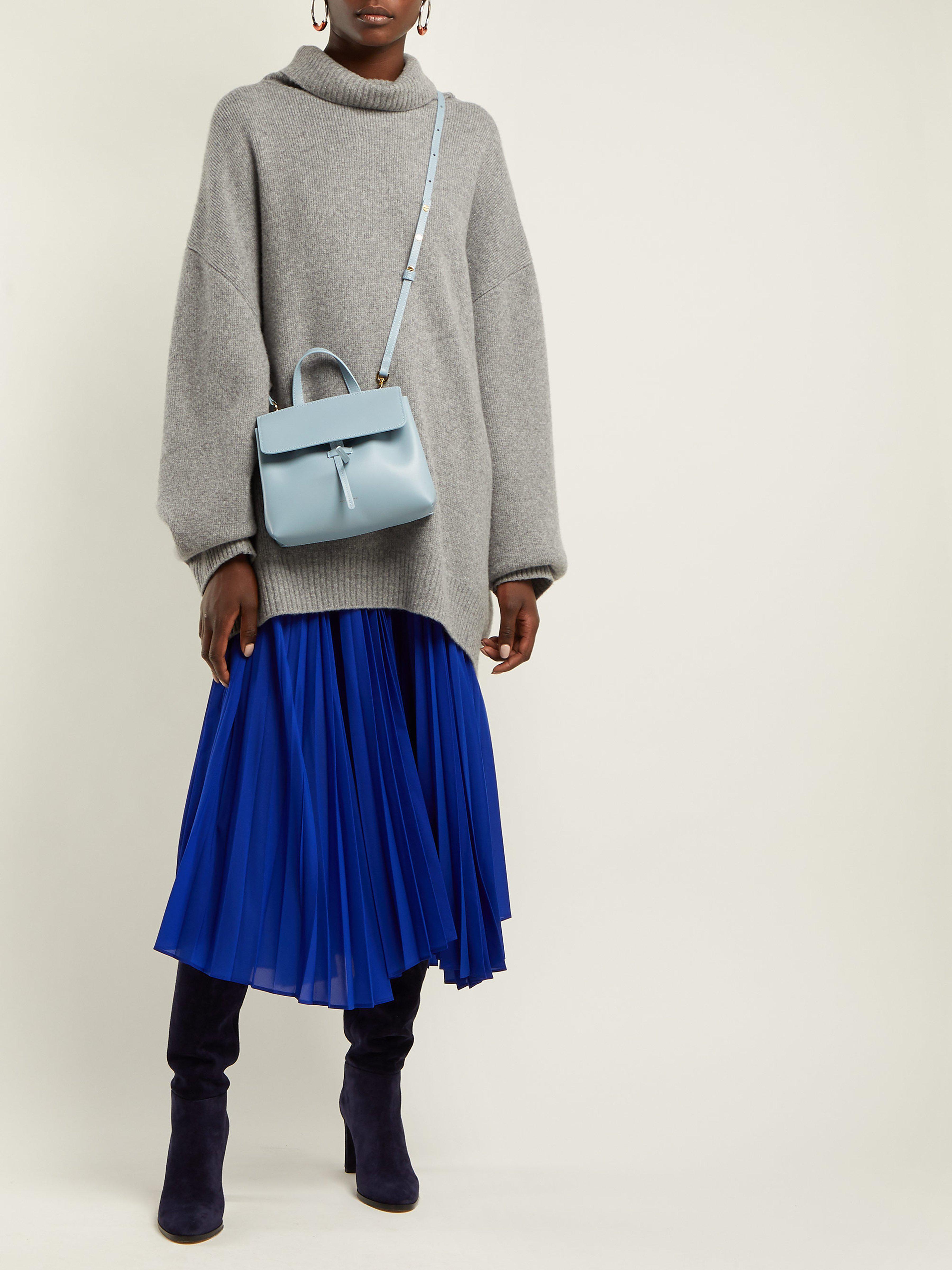 57ed8cd6e95 Mansur Gavriel Gray Mini Mini Lady Leather Cross Body Bag