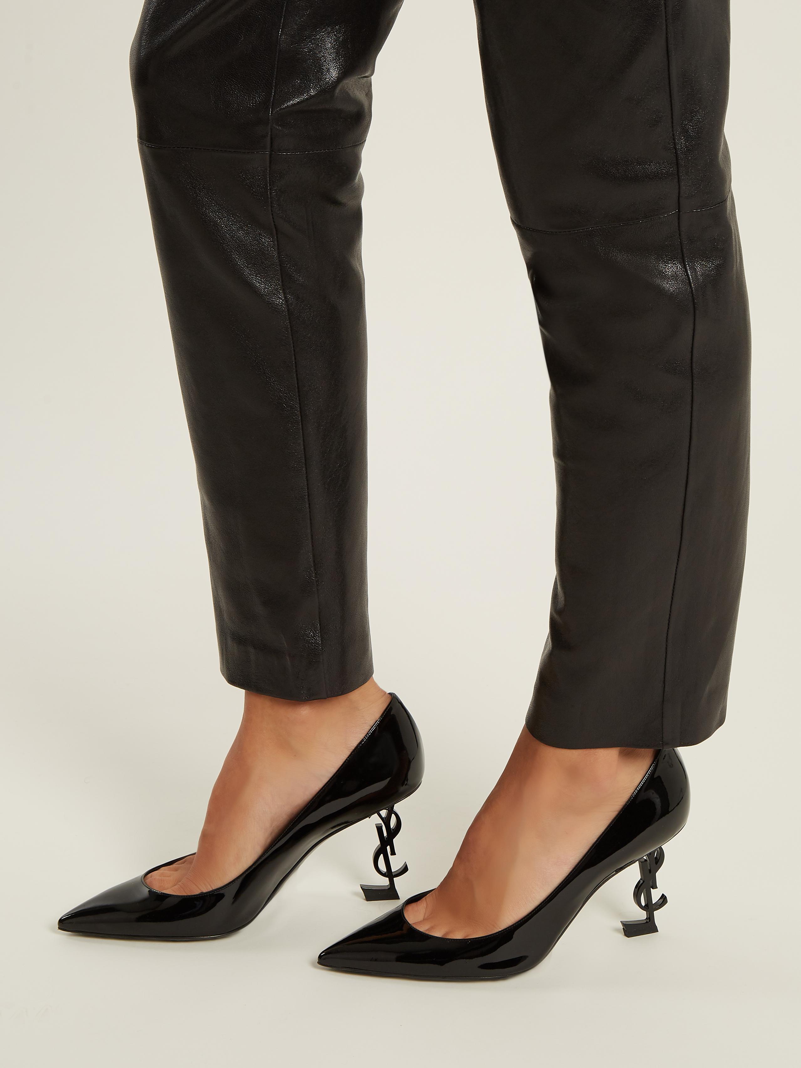 Opyum logo-heel leather pumps Saint Laurent mmegt07J3L