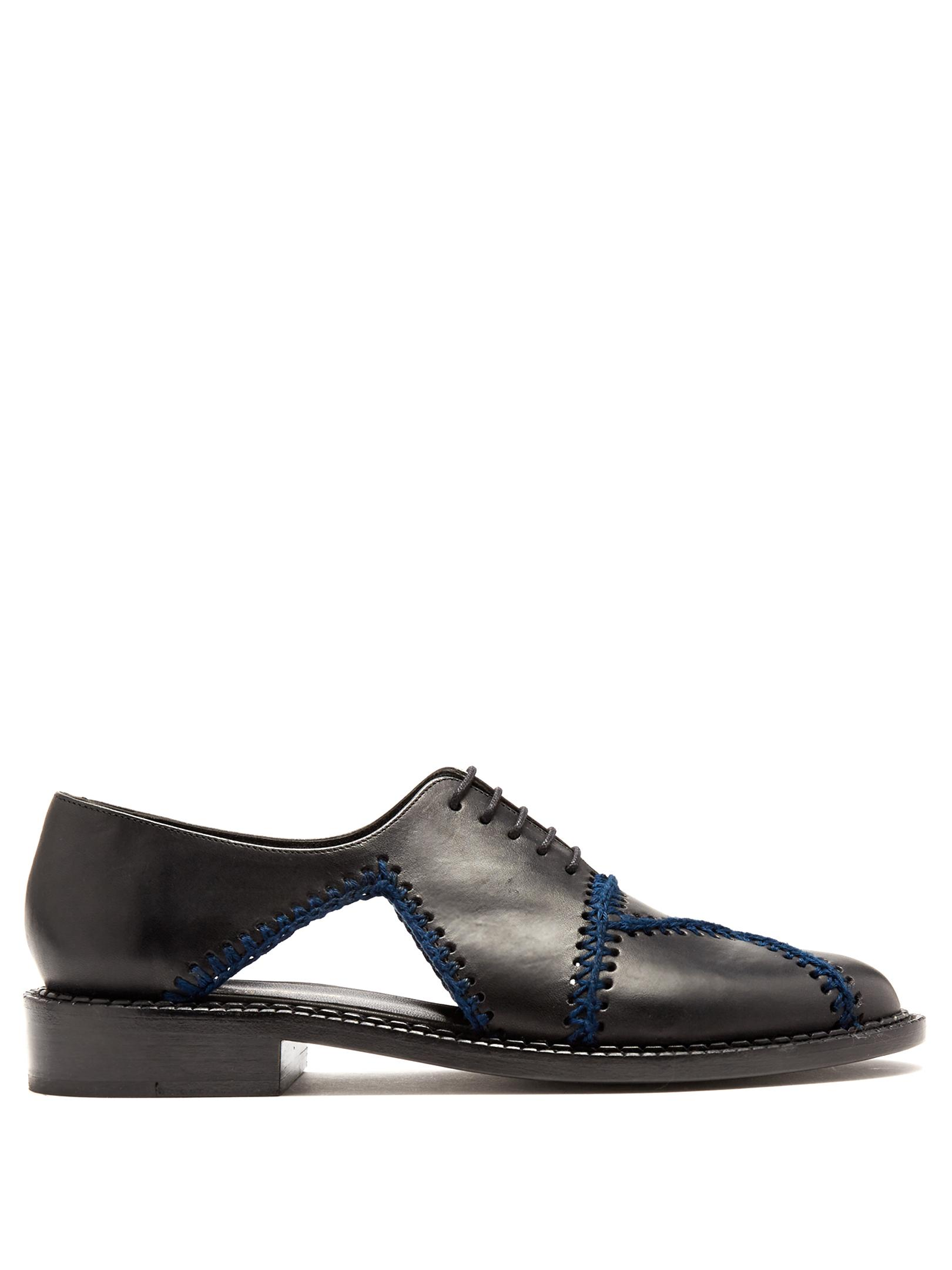 the latest a3614 2aa29 robert-clergerie-BLACK-NAVY-Jofre-Crochet-trimmed-Leather-Shoes.jpeg