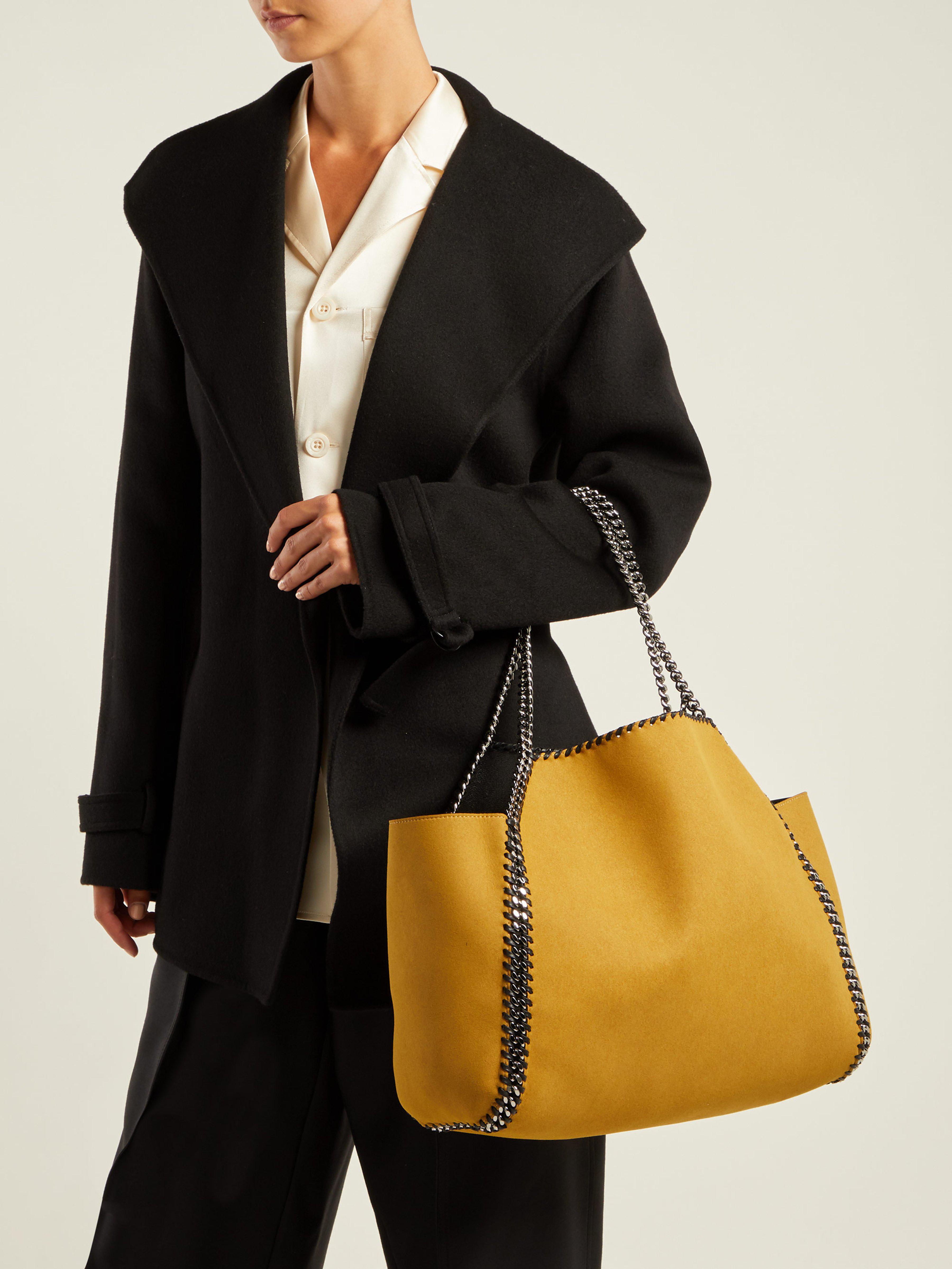 Stella McCartney Falabella Mini Reversible Tote Bag in Black - Save 33% -  Lyst 324ca4df834ad