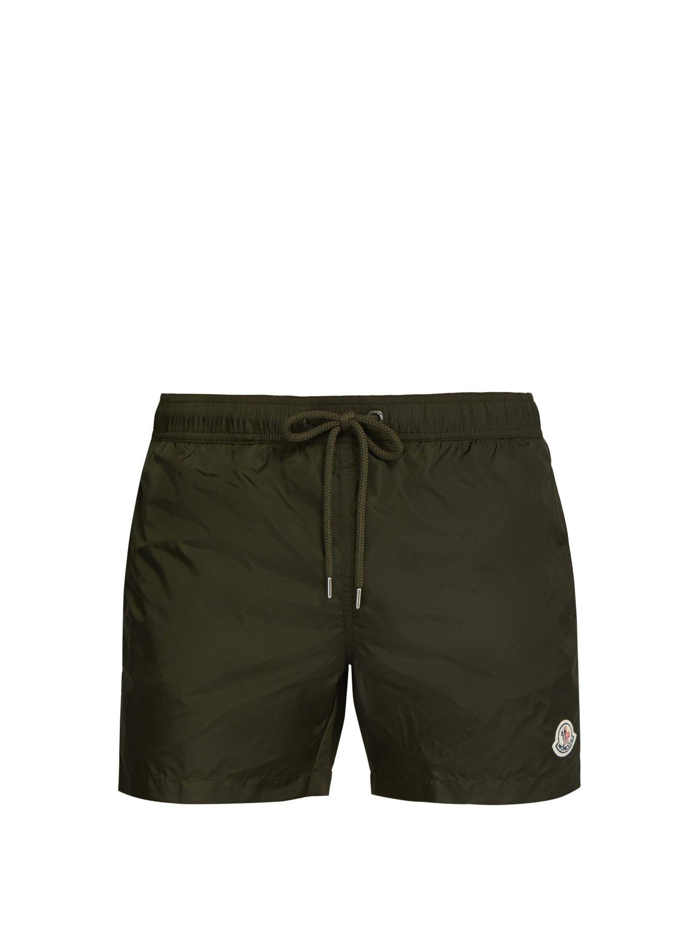 5ffef34c08 Moncler Logo Appliqué Swim Shorts in Green for Men - Lyst