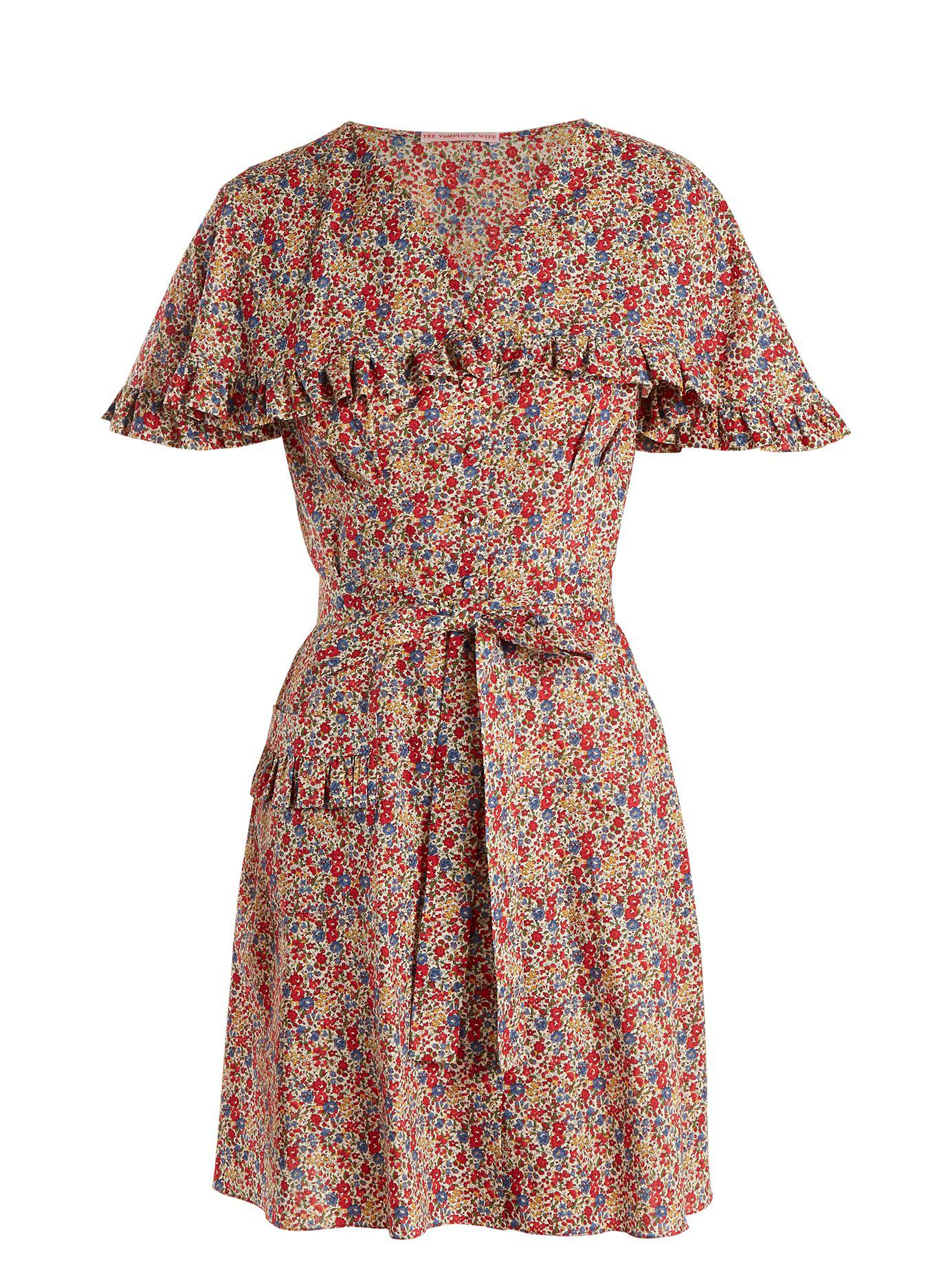 Charlotte Liberty floral-print cotton dress The Vampires Wife NK9oCRc