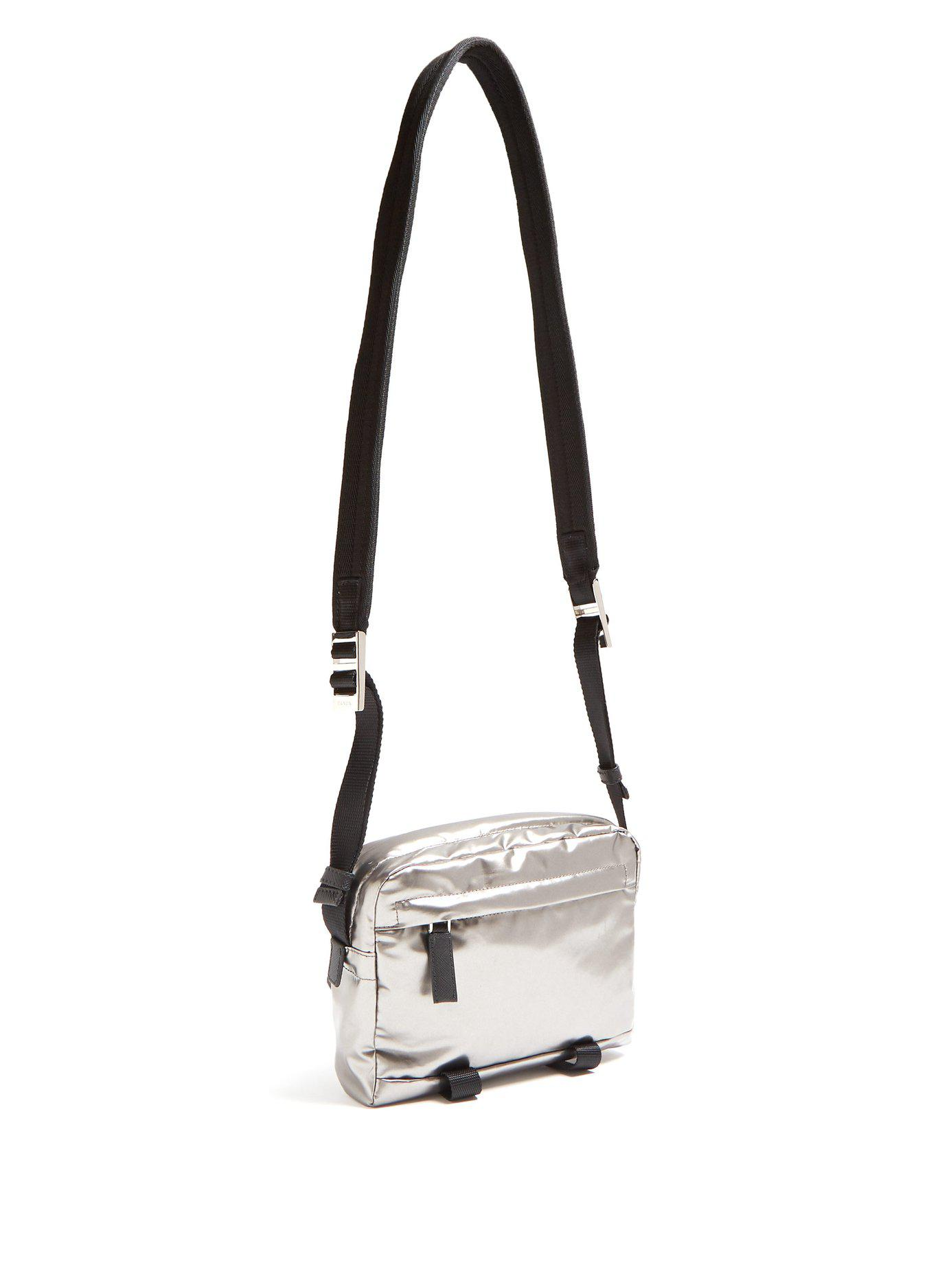 9cde2826f537f1 Prada Metallic Nylon Cross Body Bag in Metallic for Men - Lyst