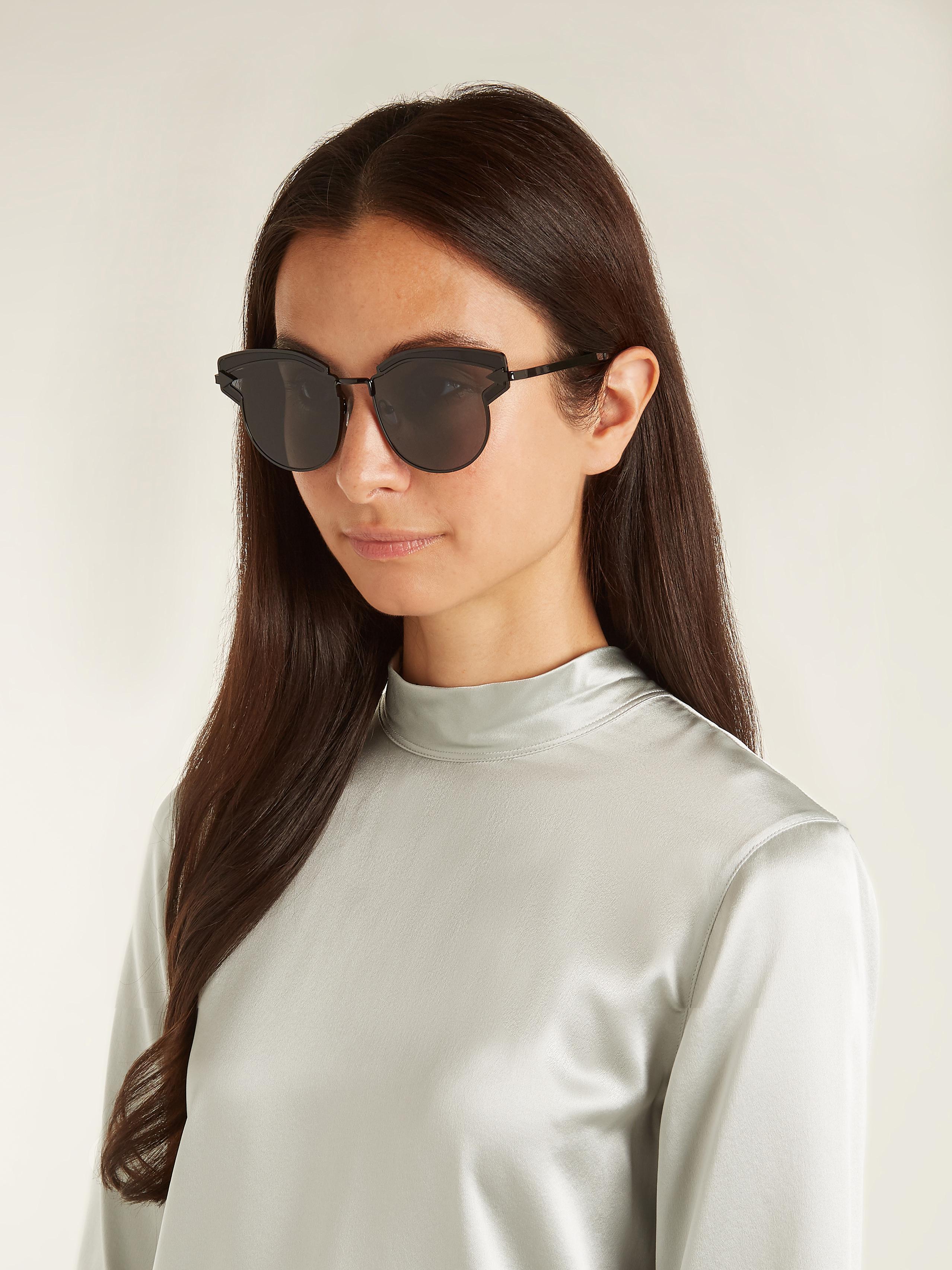 e314a3a8383 Lyst - Karen Walker Felipe Cat-eye Sunglasses in Black